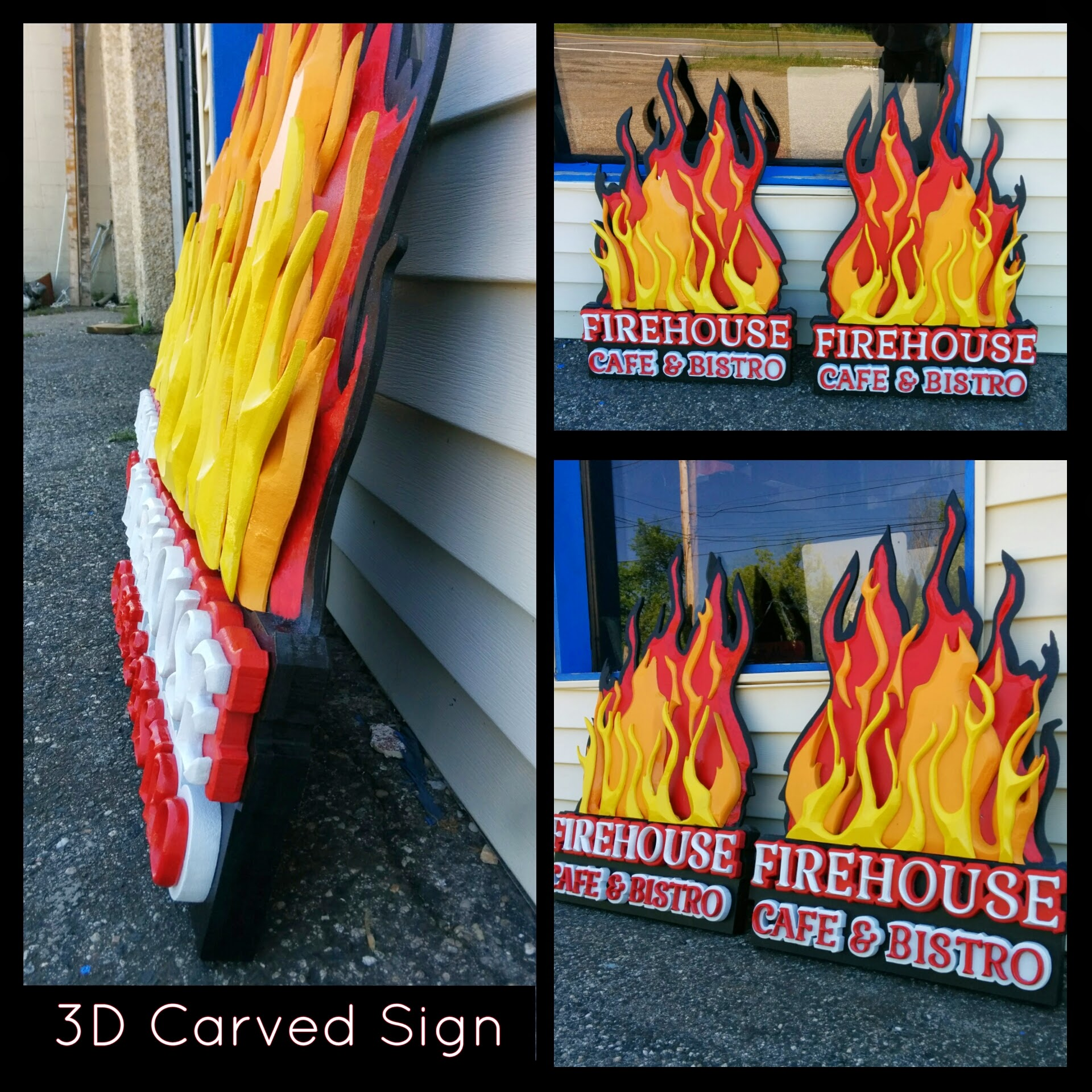 PVC - 3D text and flames