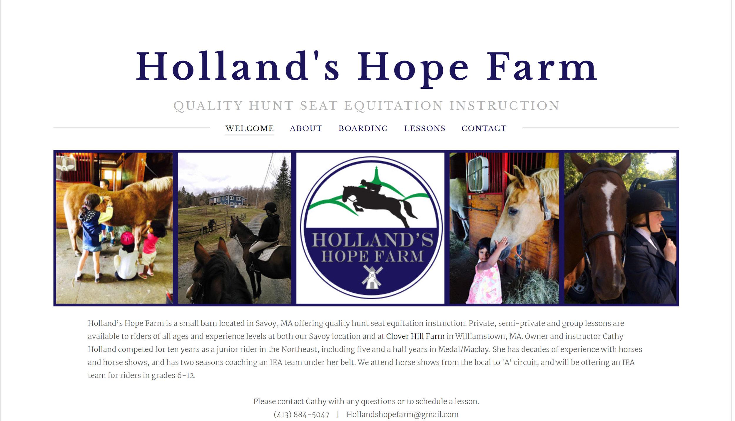 www.HollandsHopeFarm.com