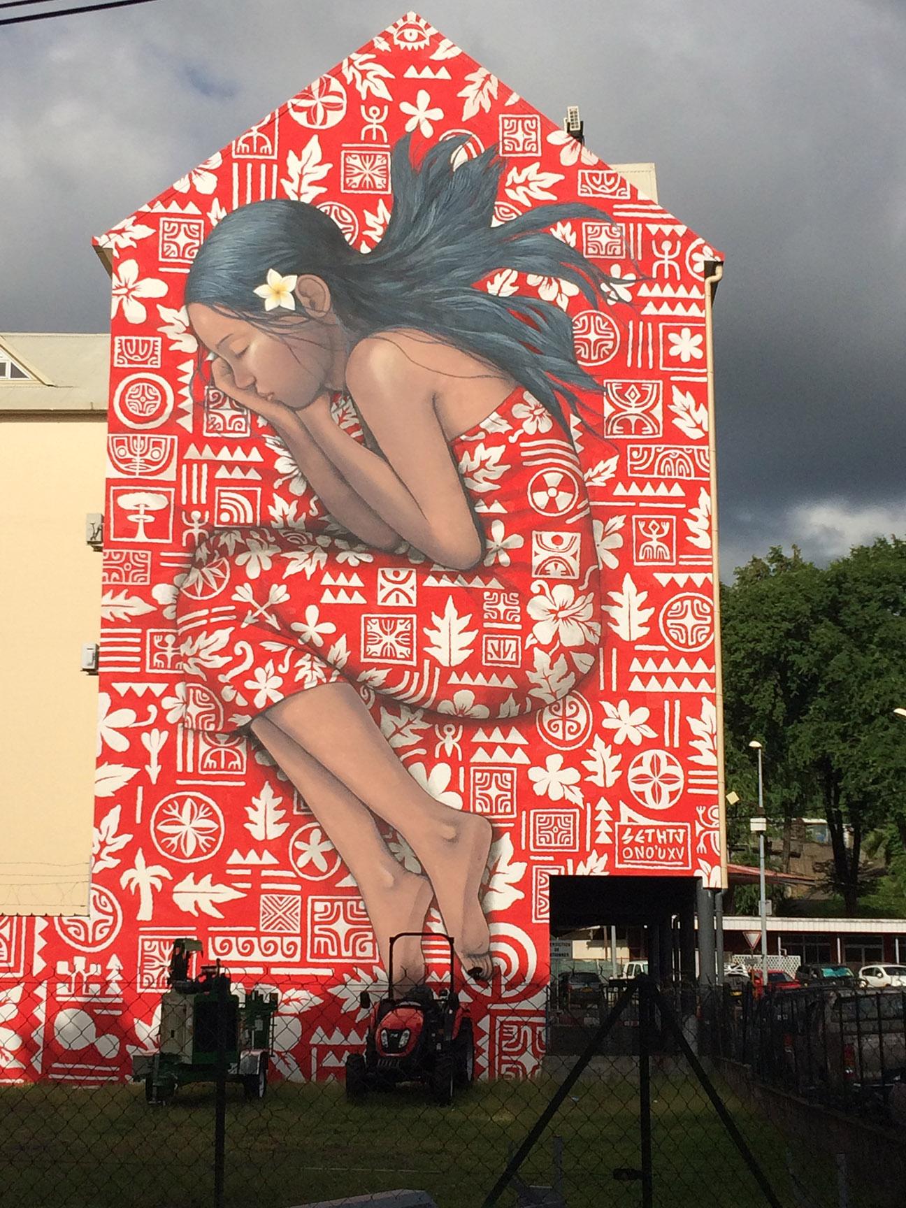 © Te Mana Travels — Tahiti mural
