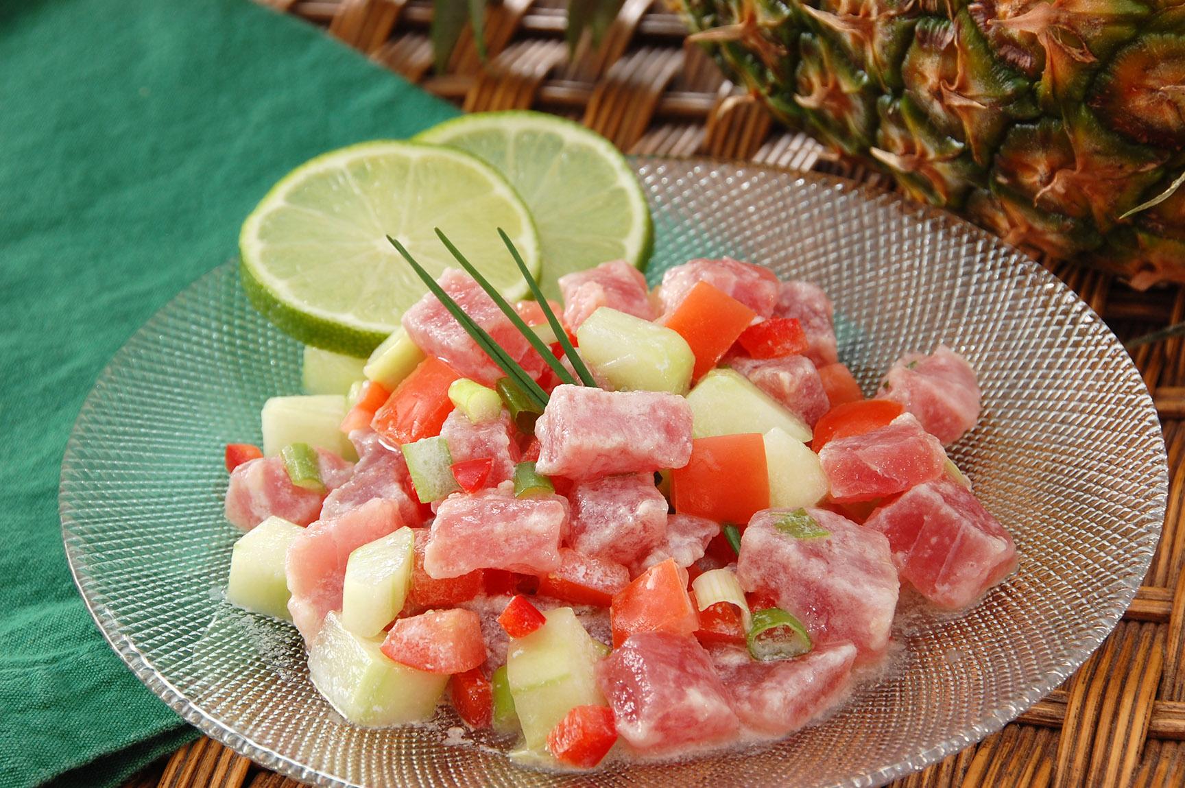 © Te Mana Travels — Fresh tuna salad