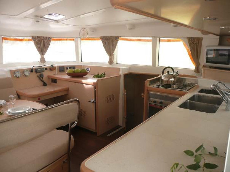 Te Mana Travels — Catamaran kitchen
