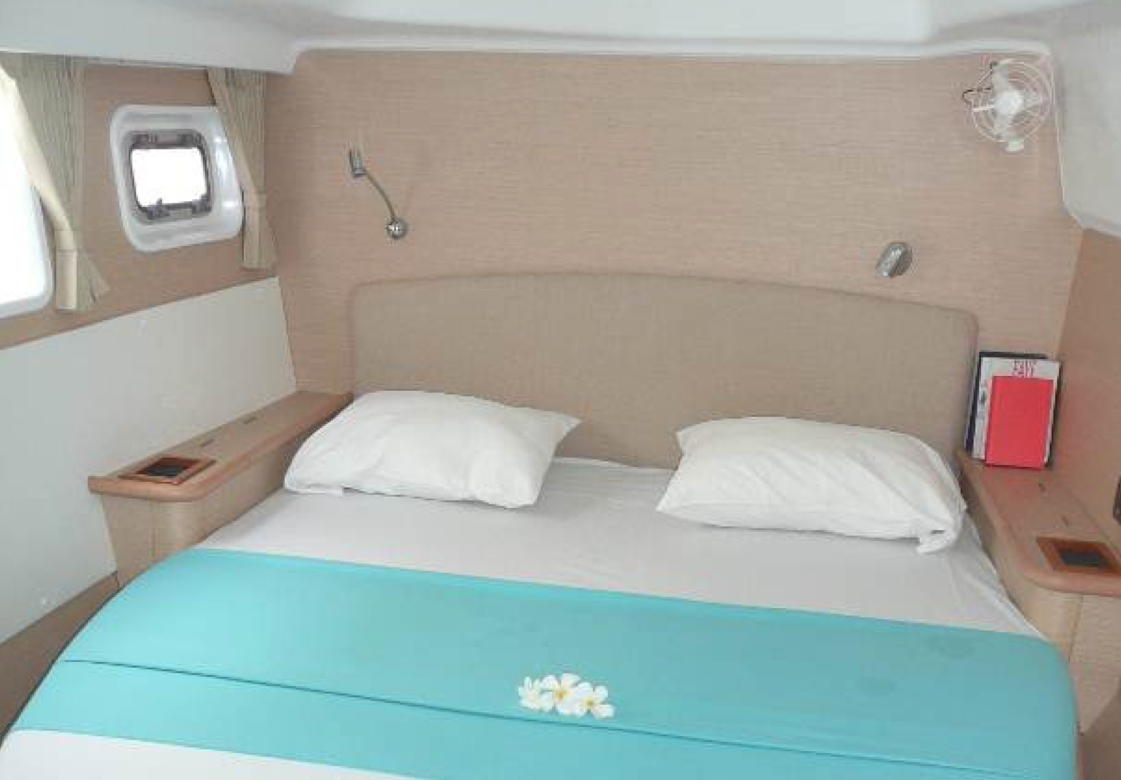 © Te Mana Travels — Catamaran bedroom 2