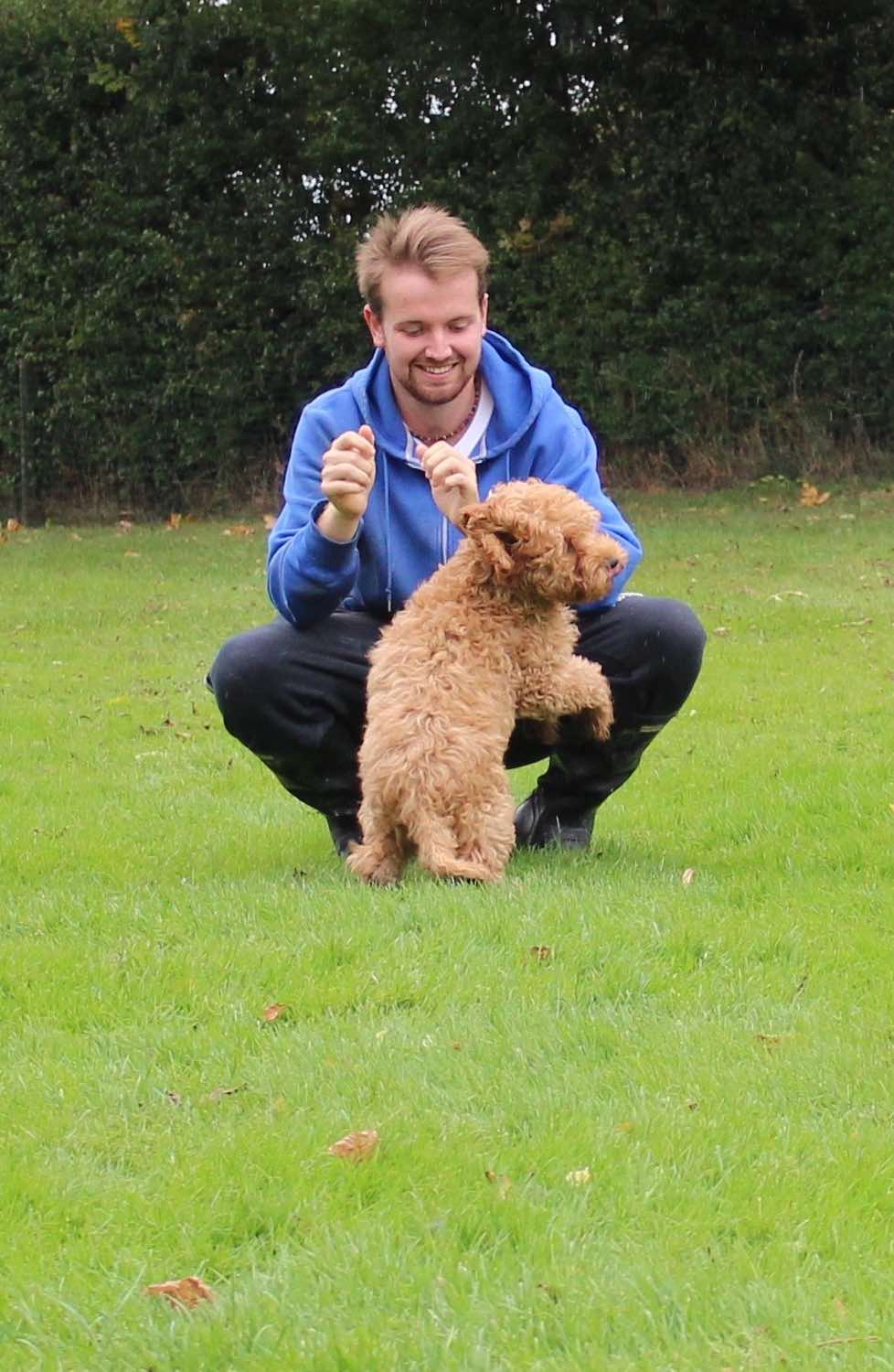 James with Wilf, doing some training, but I think it was just about them having fun!!!