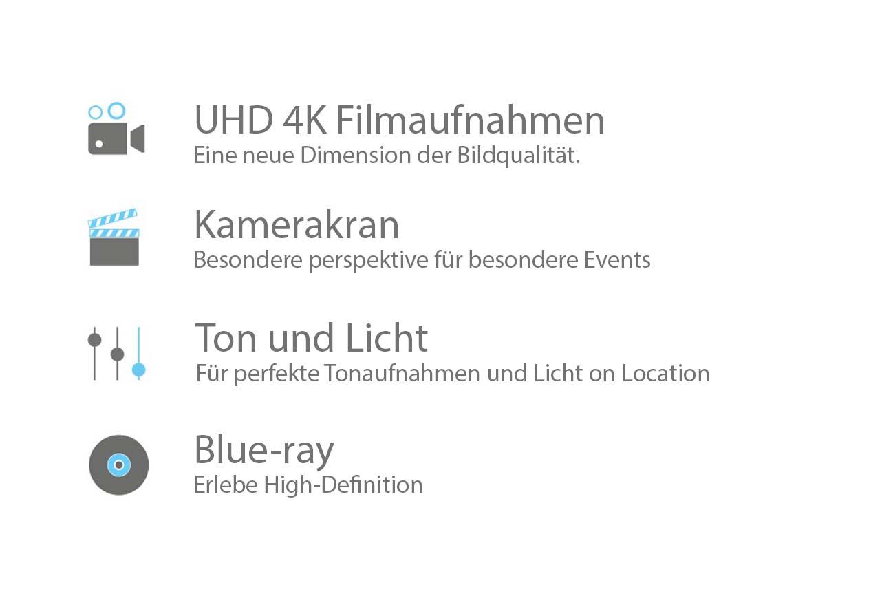 UHD 4k Filmaufnahmen, Blue-ray