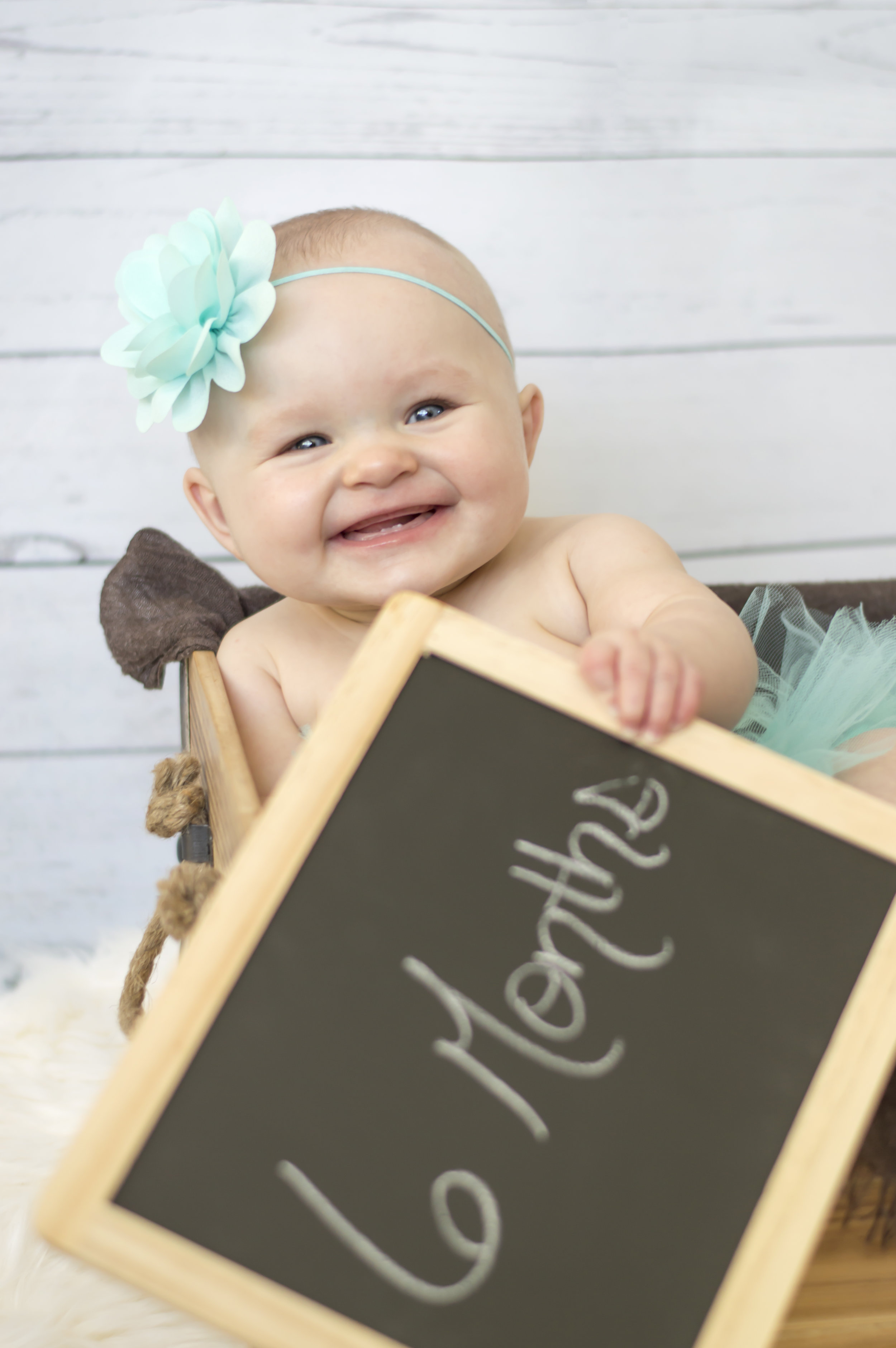 6 Month Baby Girl Photo in a Box
