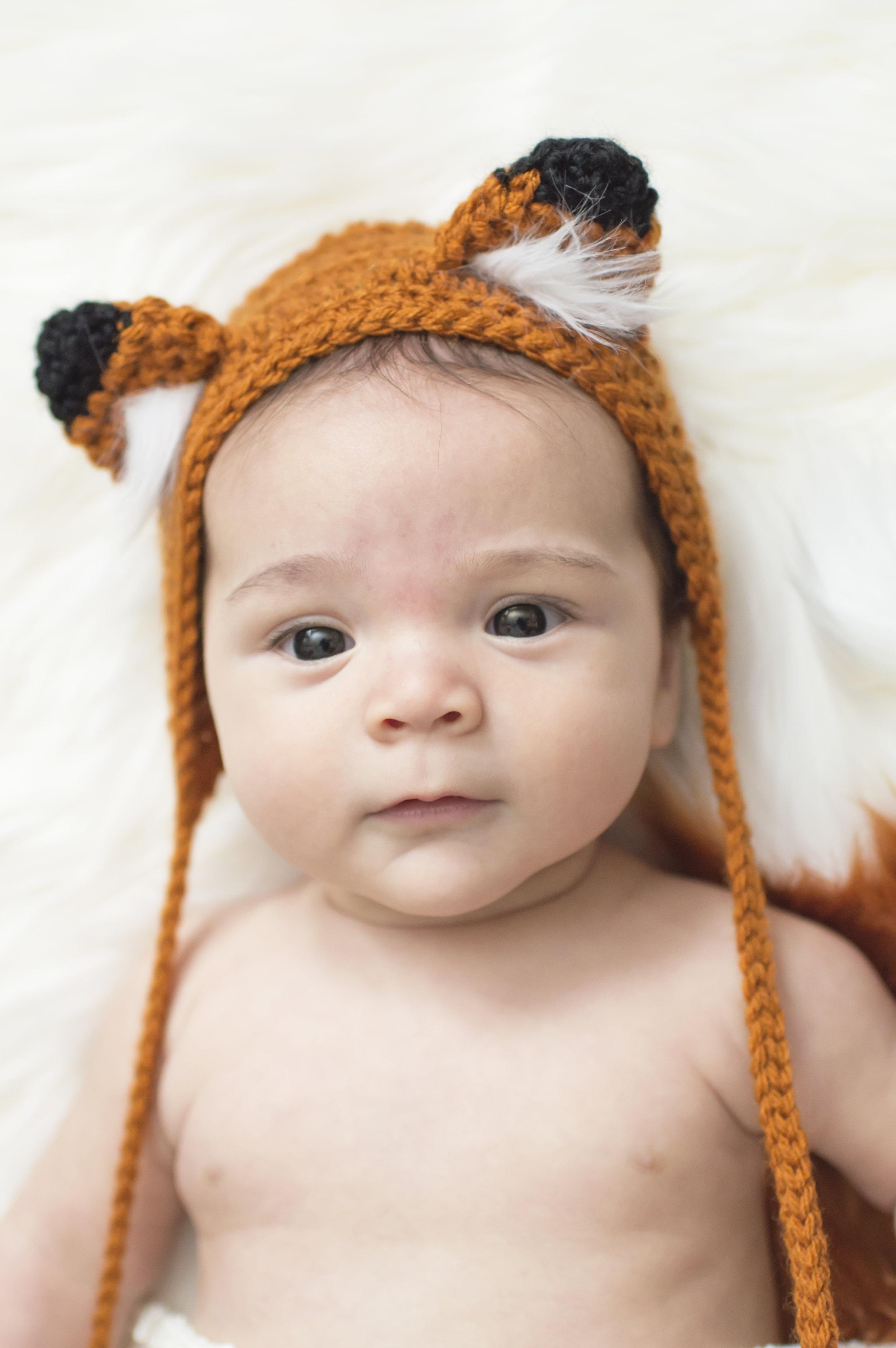 Newborn Fox Photo Boy