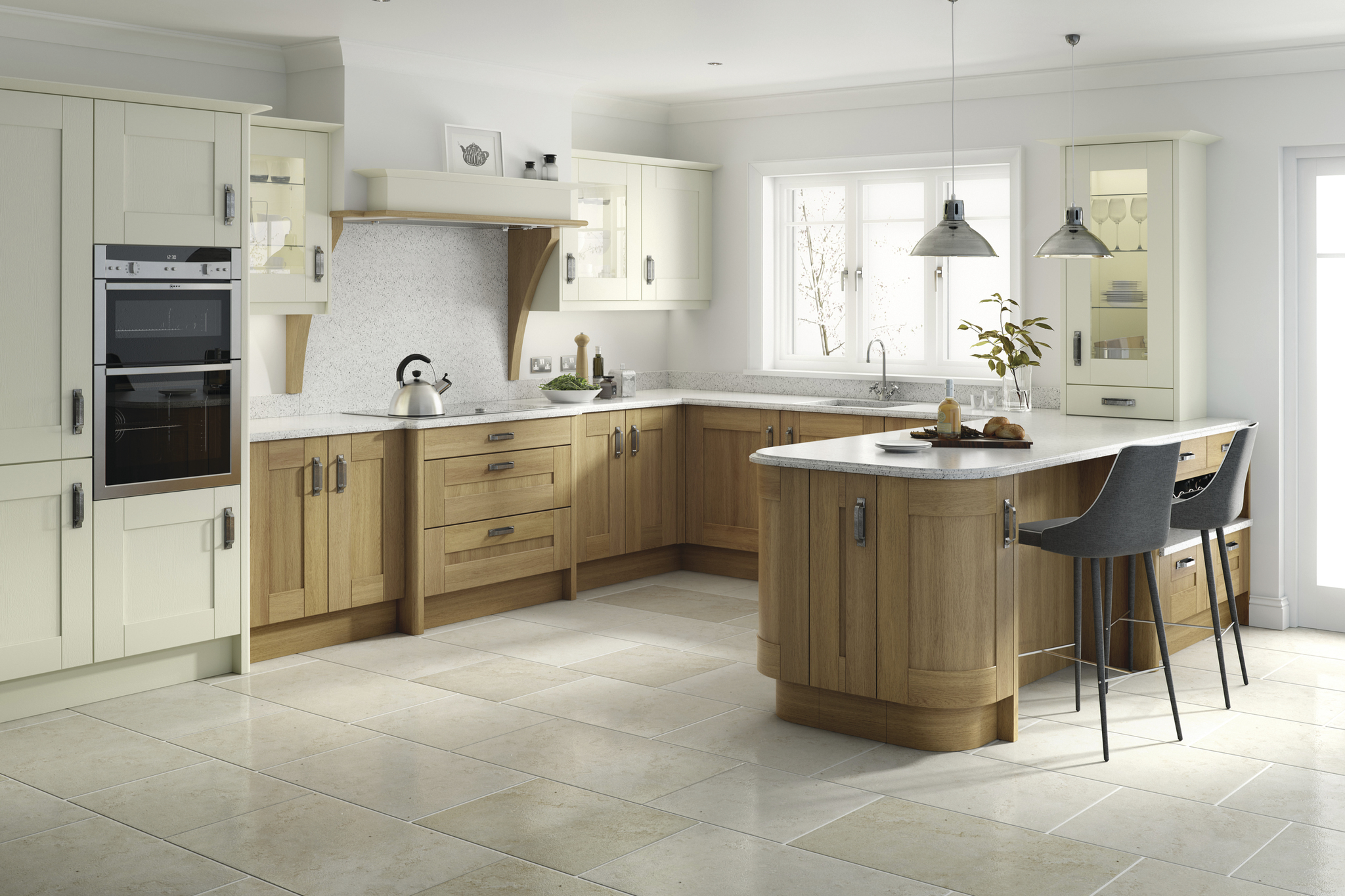 Broadoak £4400 - 24 colour optionsFree Neff oven,hob,hood,Dishwasher+granite Quarts £3950 + installation £2600=Total £10950 Free Consultation!