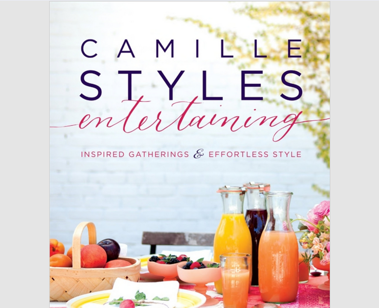 """Book Title Lettering, """"entertaining"""" and """"&"""", Camille Styles"""