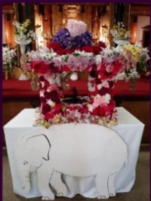 The Hanamido, or Flower Altar, April 2018.