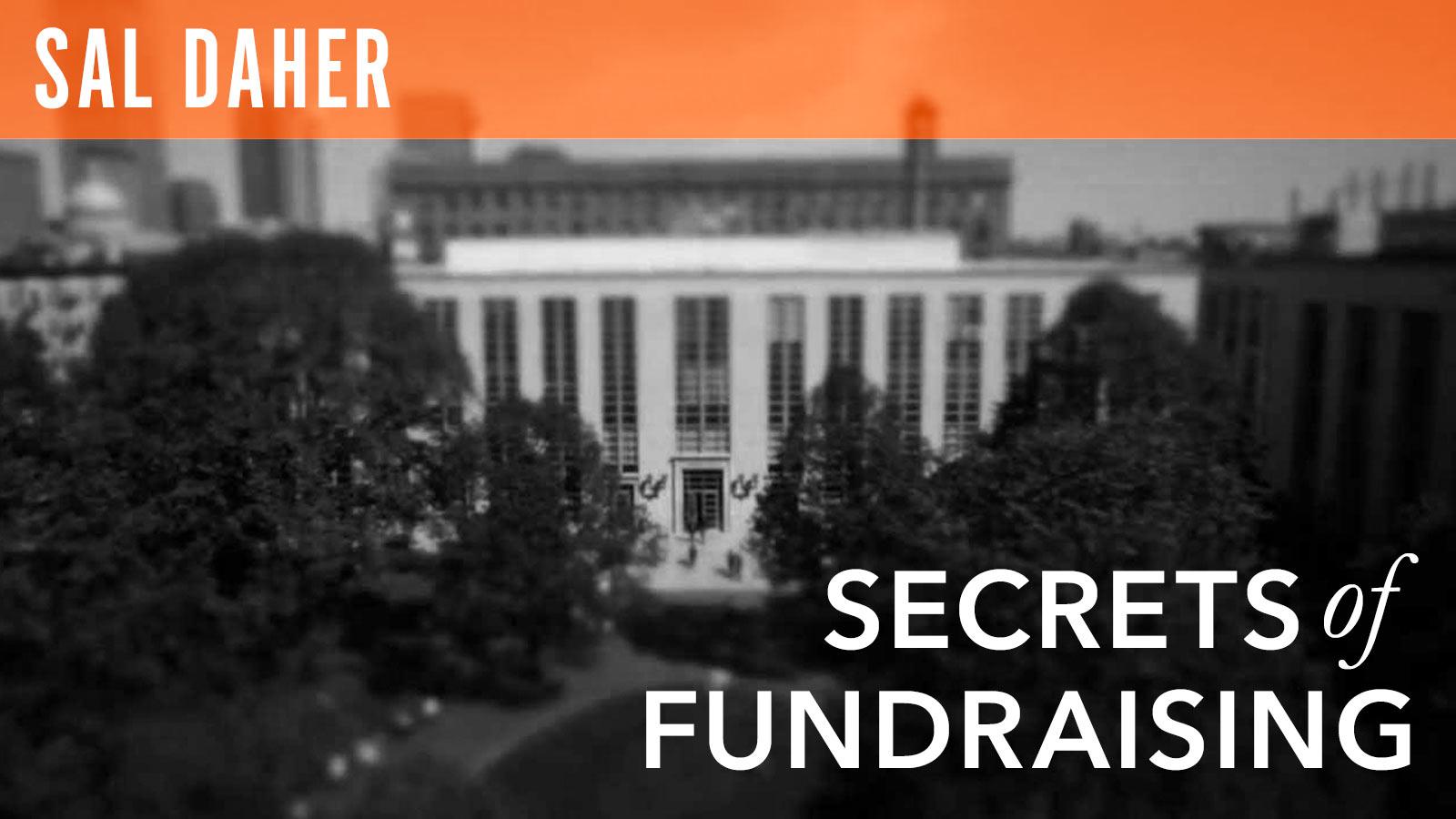 Sal Daher  Secrets of Fundraising