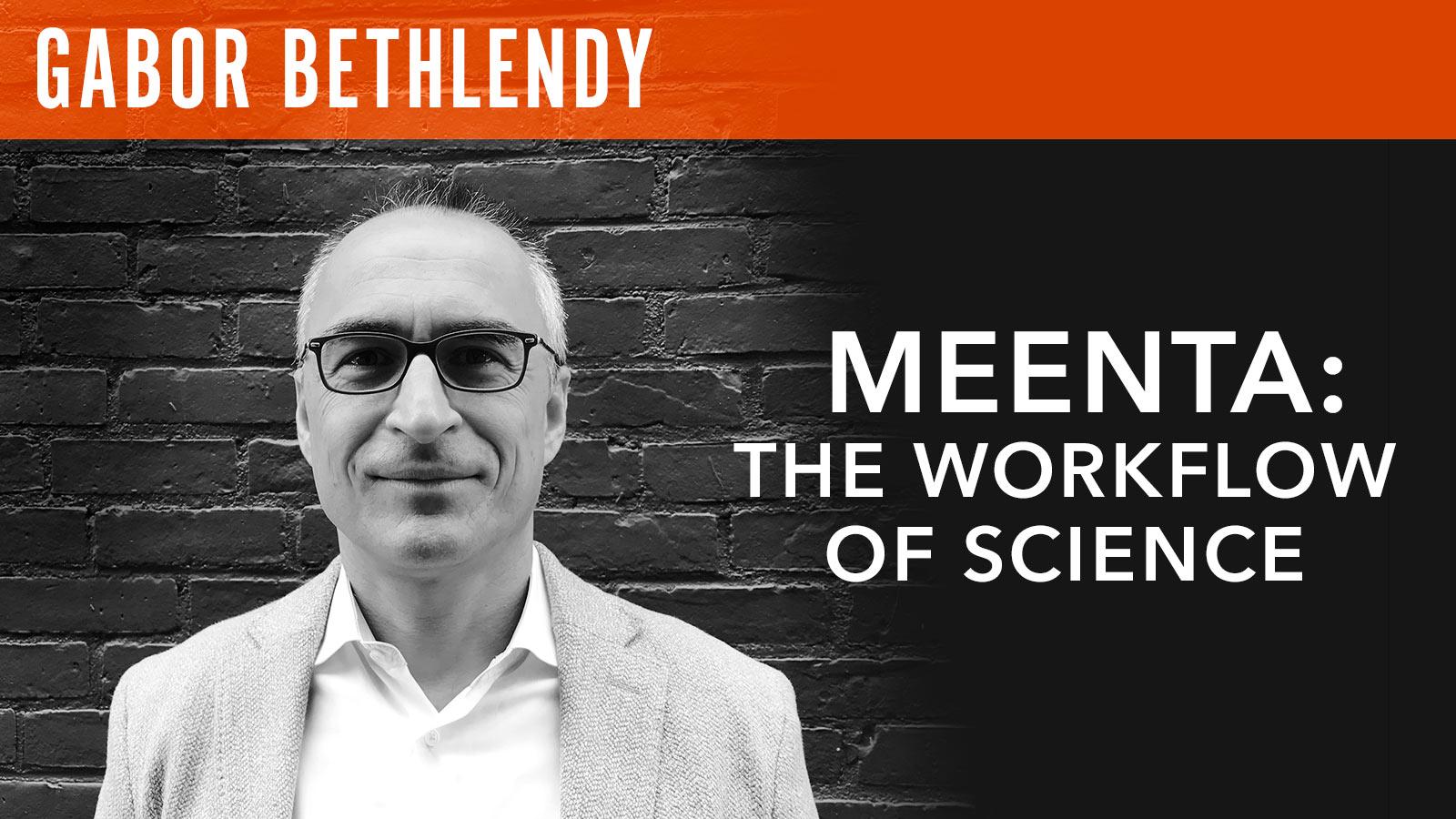 Gabor Bethlendy  Meenta: The Workflow of Science