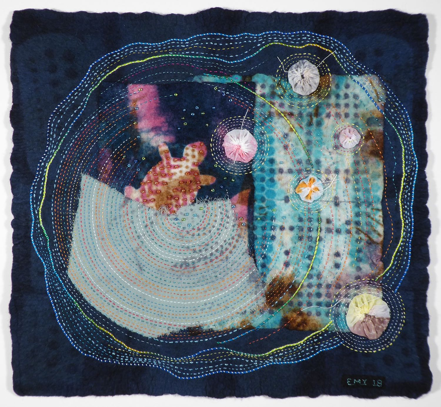 Changing Tides, Changing Tides, 22 x 22 x 2.5 inches, 2018