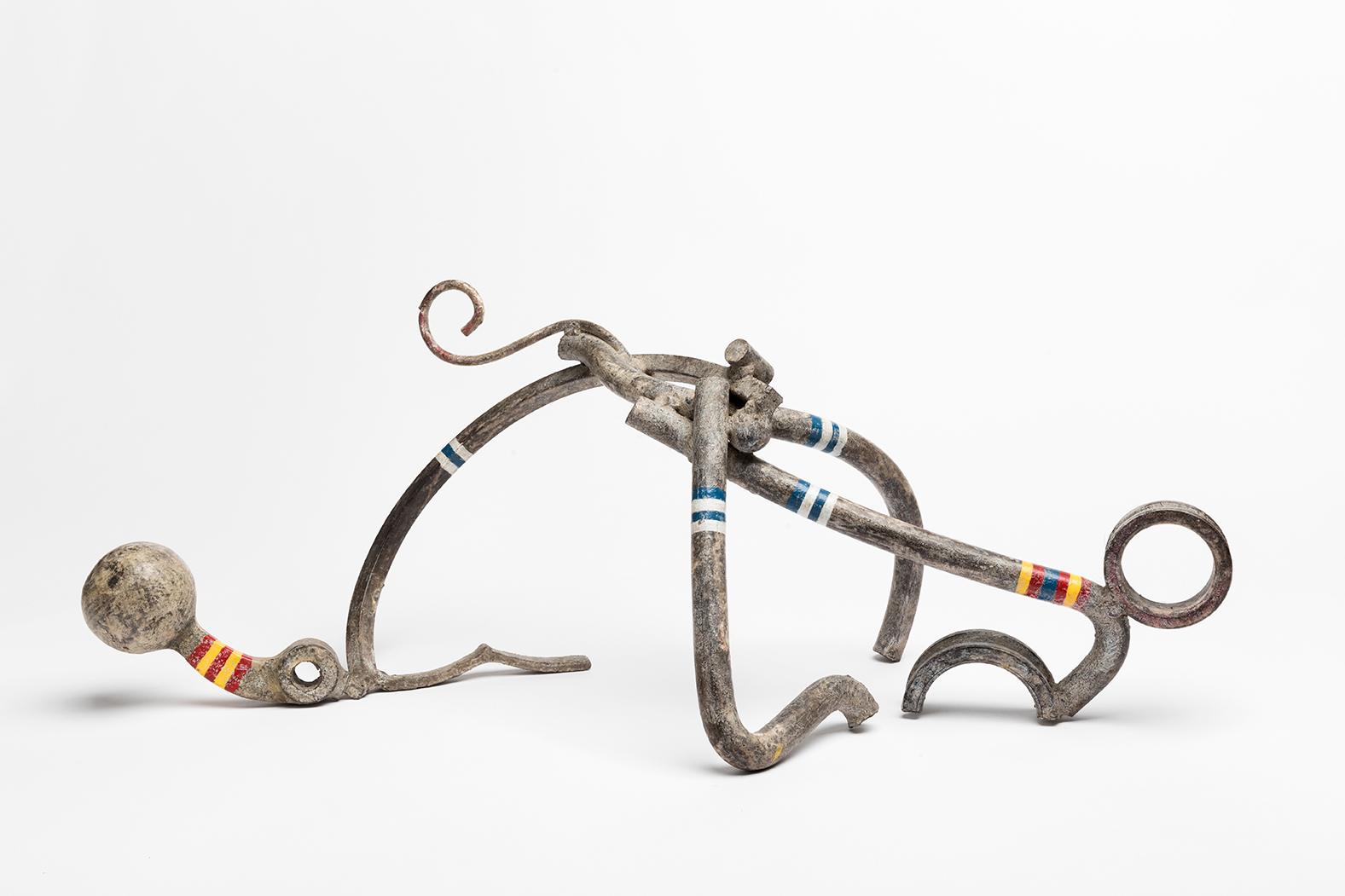 Lee Tribe,  The First Bather, Olga,  1997-2016, steel, formed, welded, paint and wax, 10 x 26 x 12""