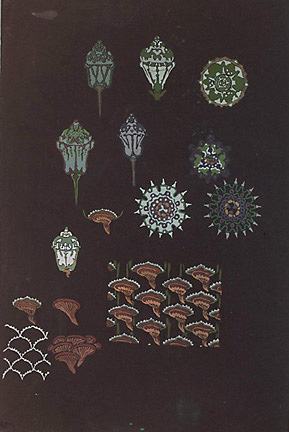 "Anne-Marie Fontaine (d. 1940), France,  Design for Sèvres Porcelain,  c. 1930, gouache on paper, 21 x 14 1/2"" framed"
