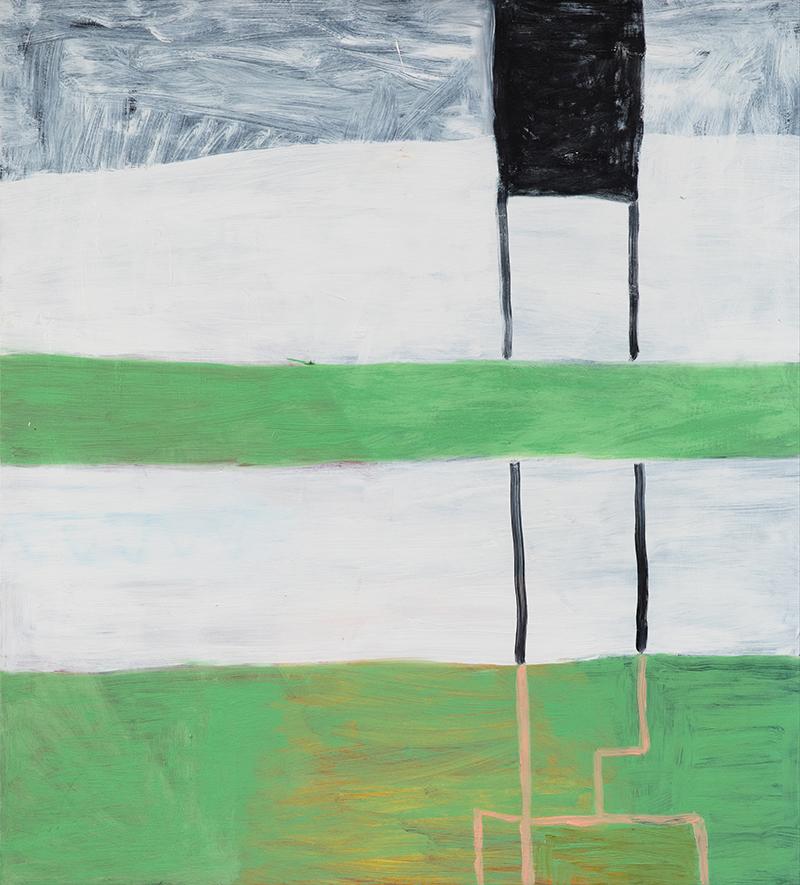 """Elizabeth Dworkin,  Frozen River,  2010, oil on board, 42 x 38"""""""