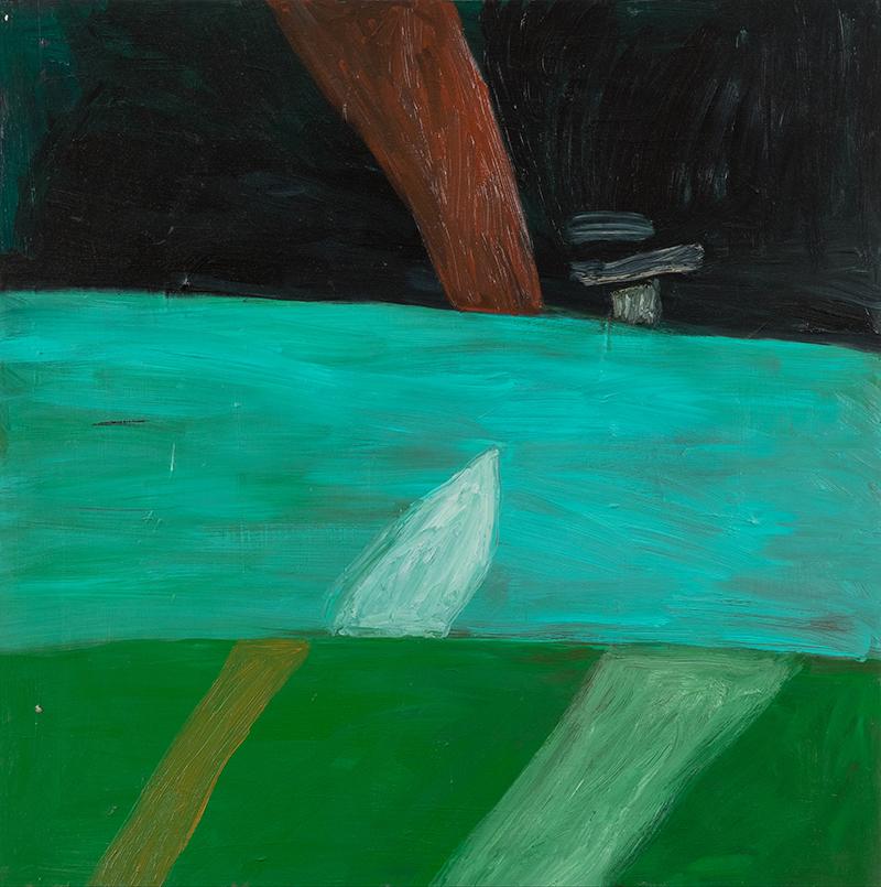 """Elizabeth Dworkin,  River , 2010, oil on board, 36 x 36"""""""