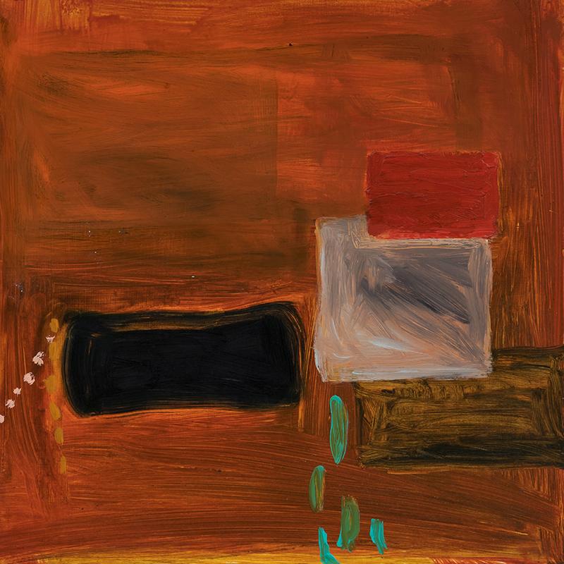"""Elizabeth Dworkin,  Tears , 2011, oil on board, 16 x 16"""""""