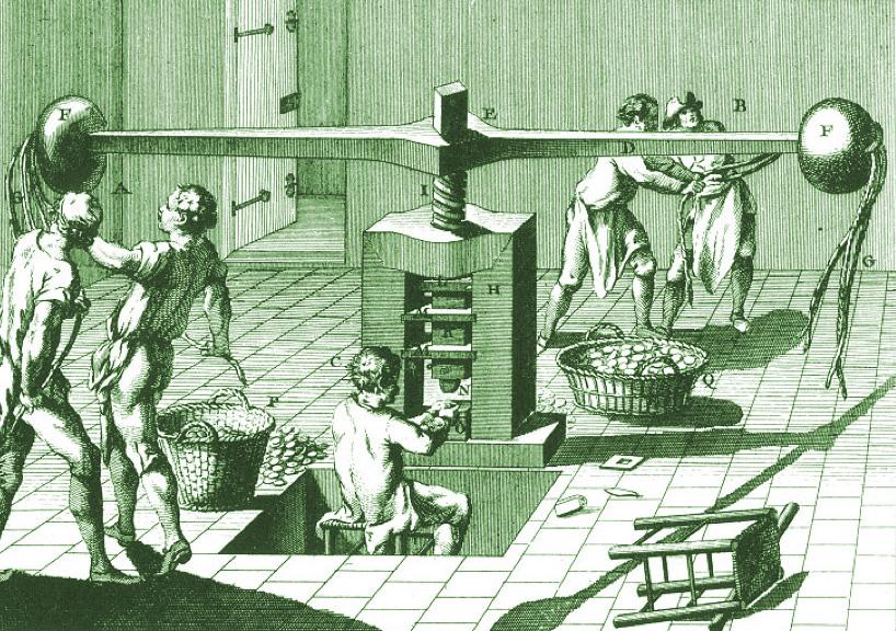 Diderot screw press