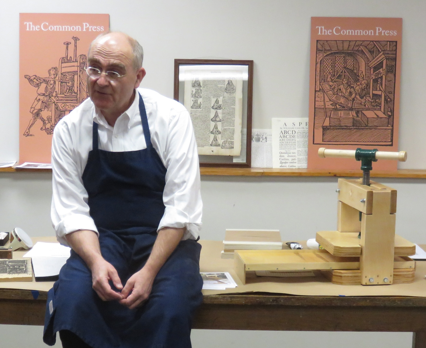 Josef Beery Sells and Demonstrates the BookBeetle Press