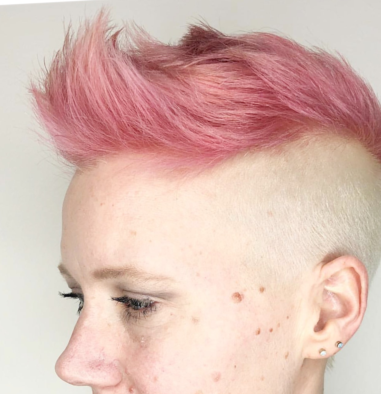 Soft pink and blonde on a client   Schedule Here