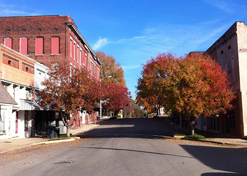Looking toward the square - downtown Marianna is home to eight listings on the National Register of Historic Places.
