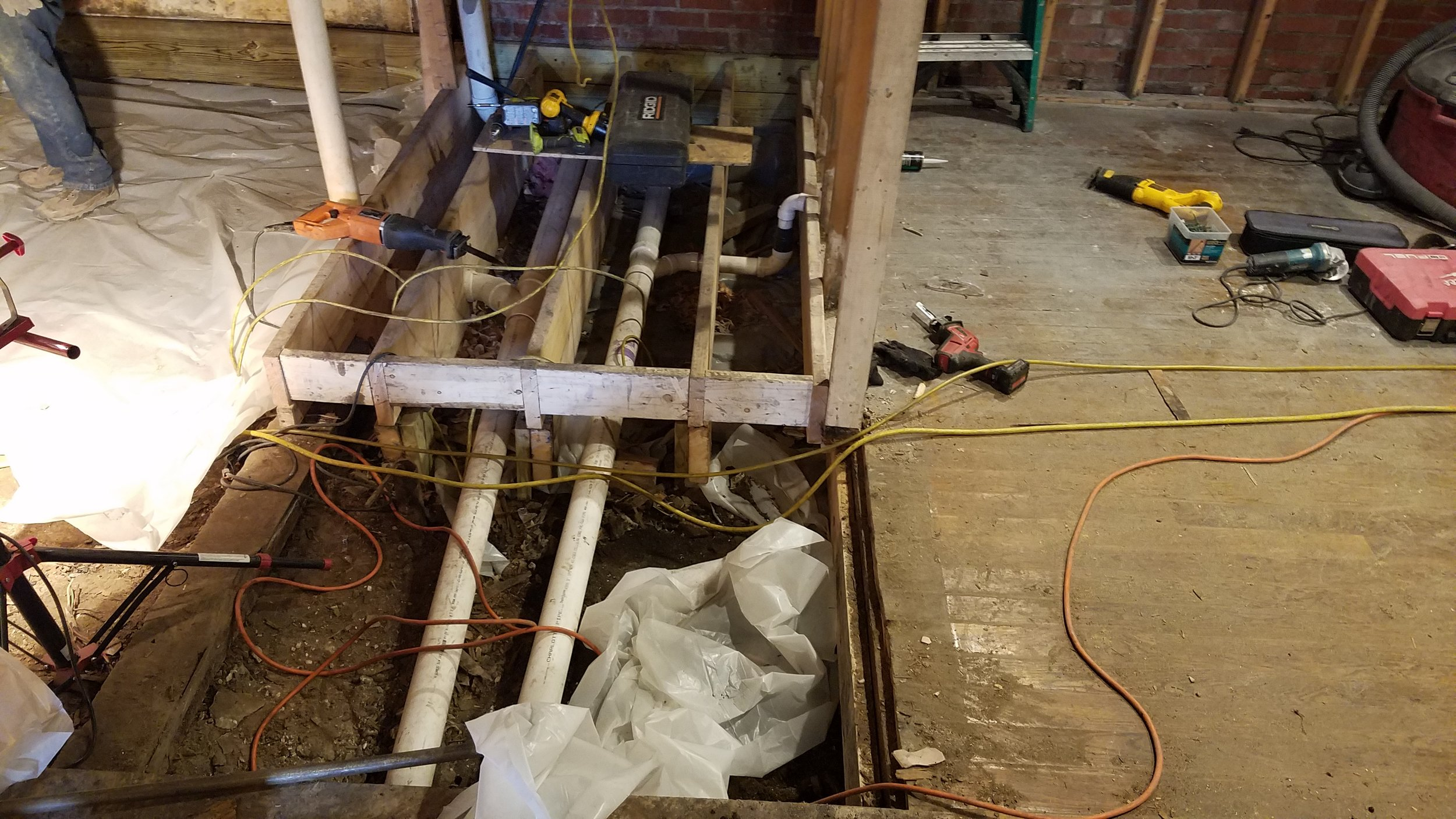 New plumbing on this section almost ready!