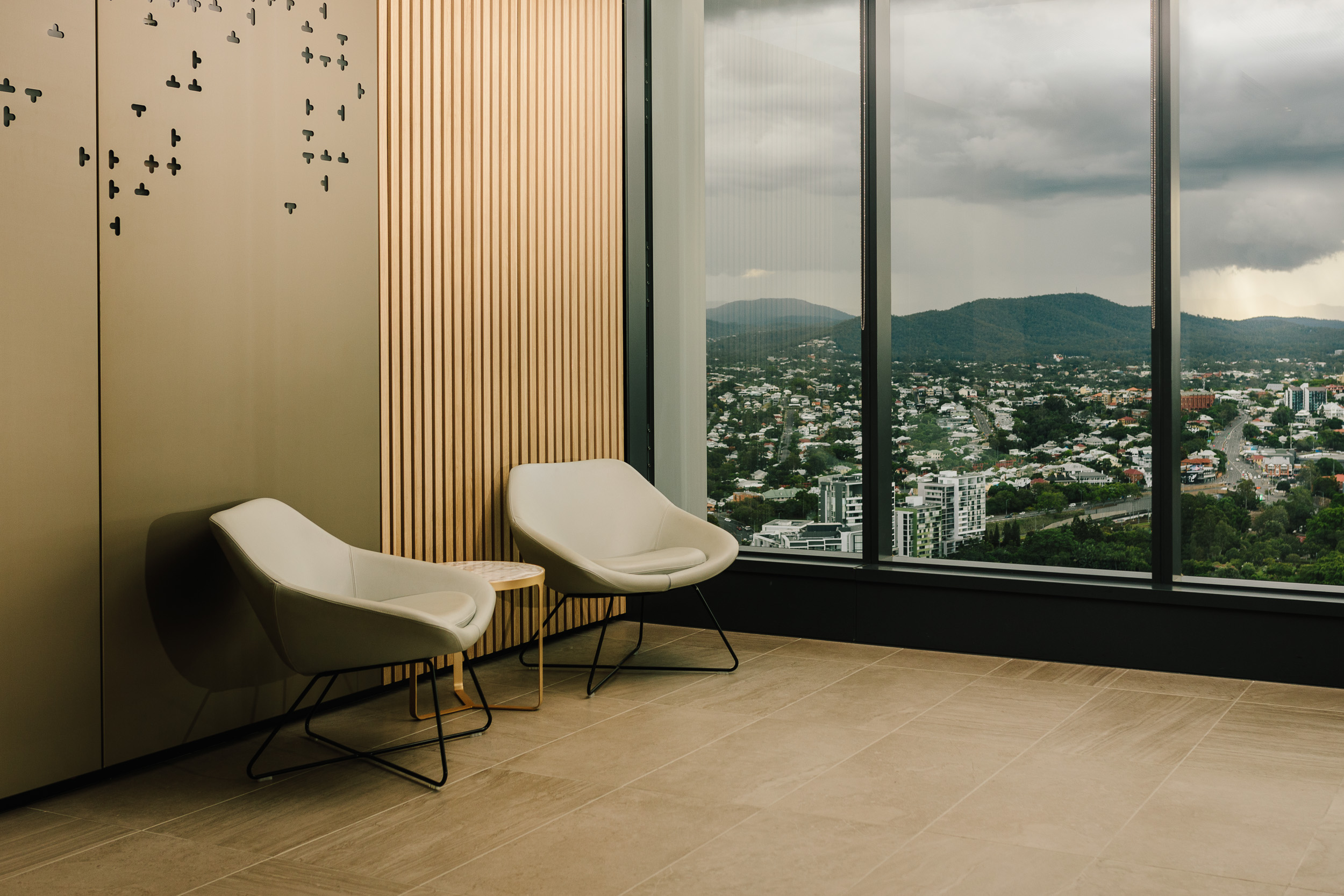 The Brisbane Marriage Registry Foyer overlooking Mt Coot-Tha and Roma Street Parklands