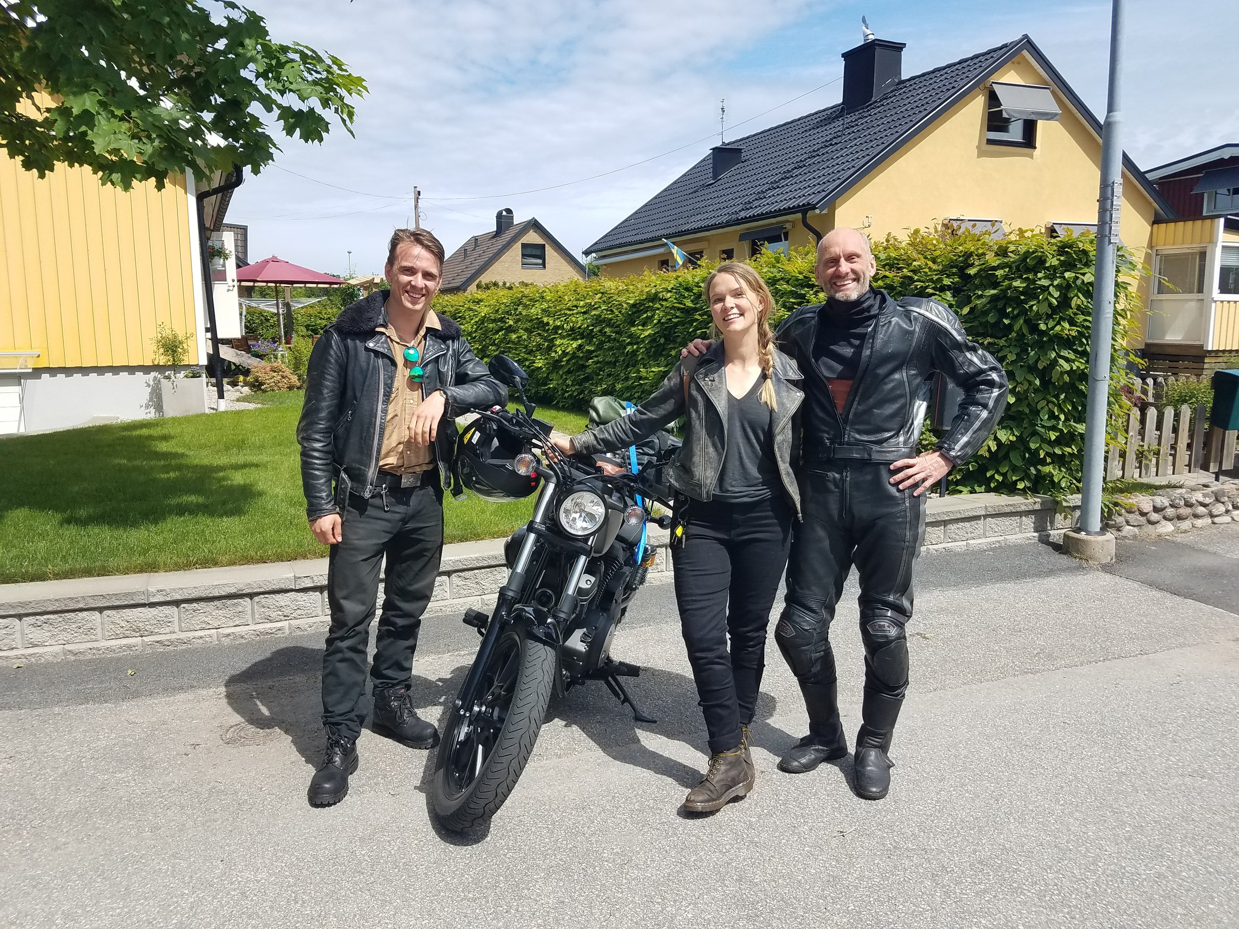 David, me and Urban in Trollhätten at the end of our ride together.