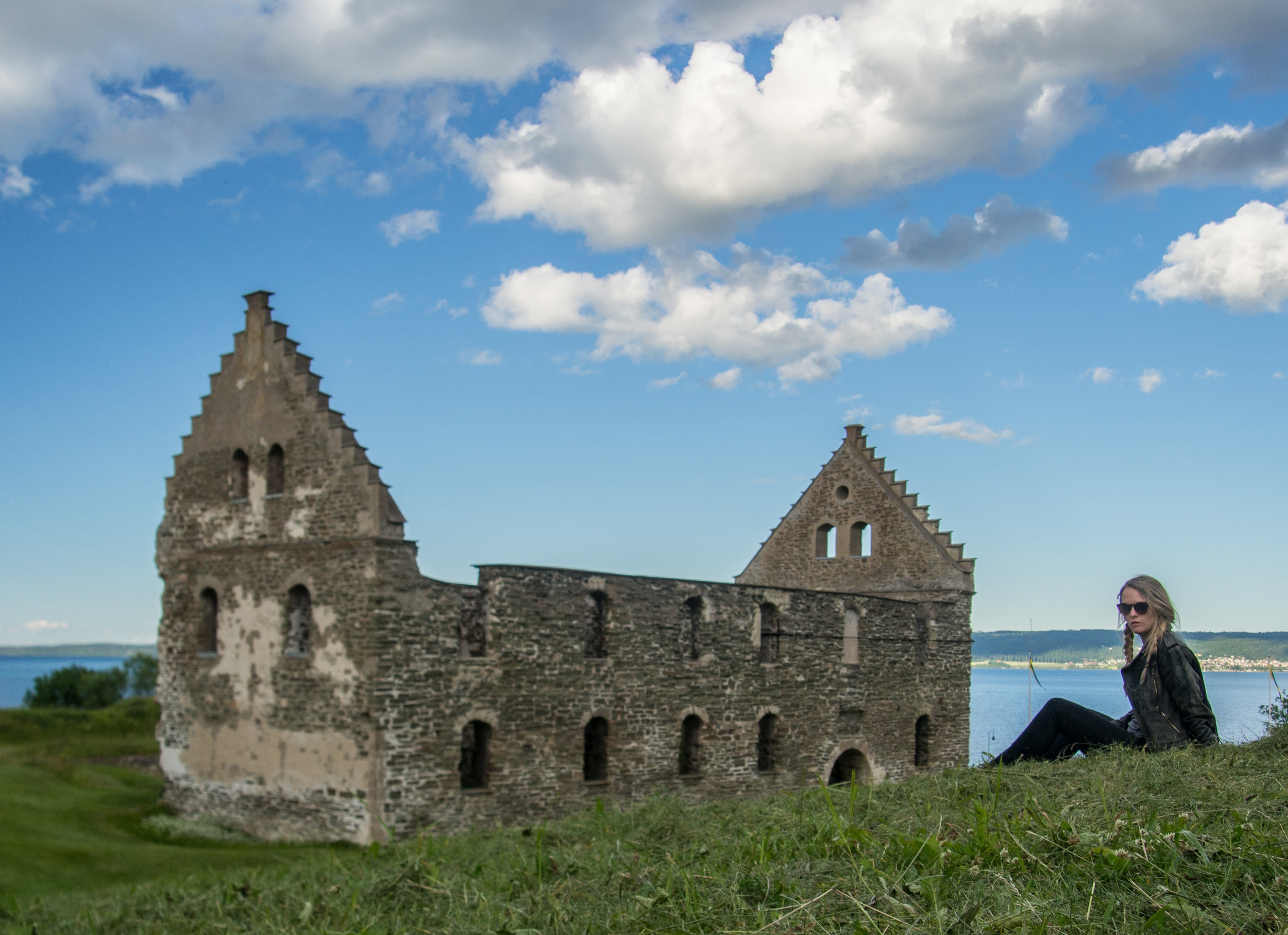 Castle ruin of Visingsborg on the island of Visingsö