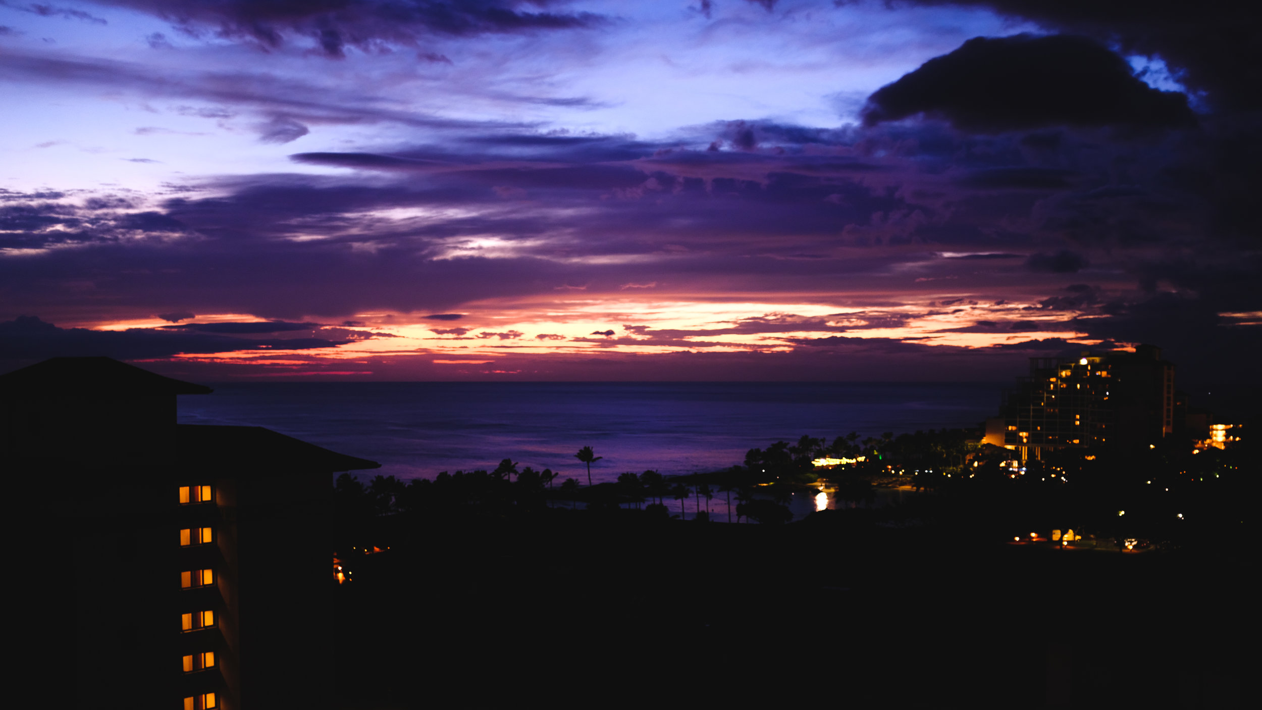 Sunset view from our penthouse