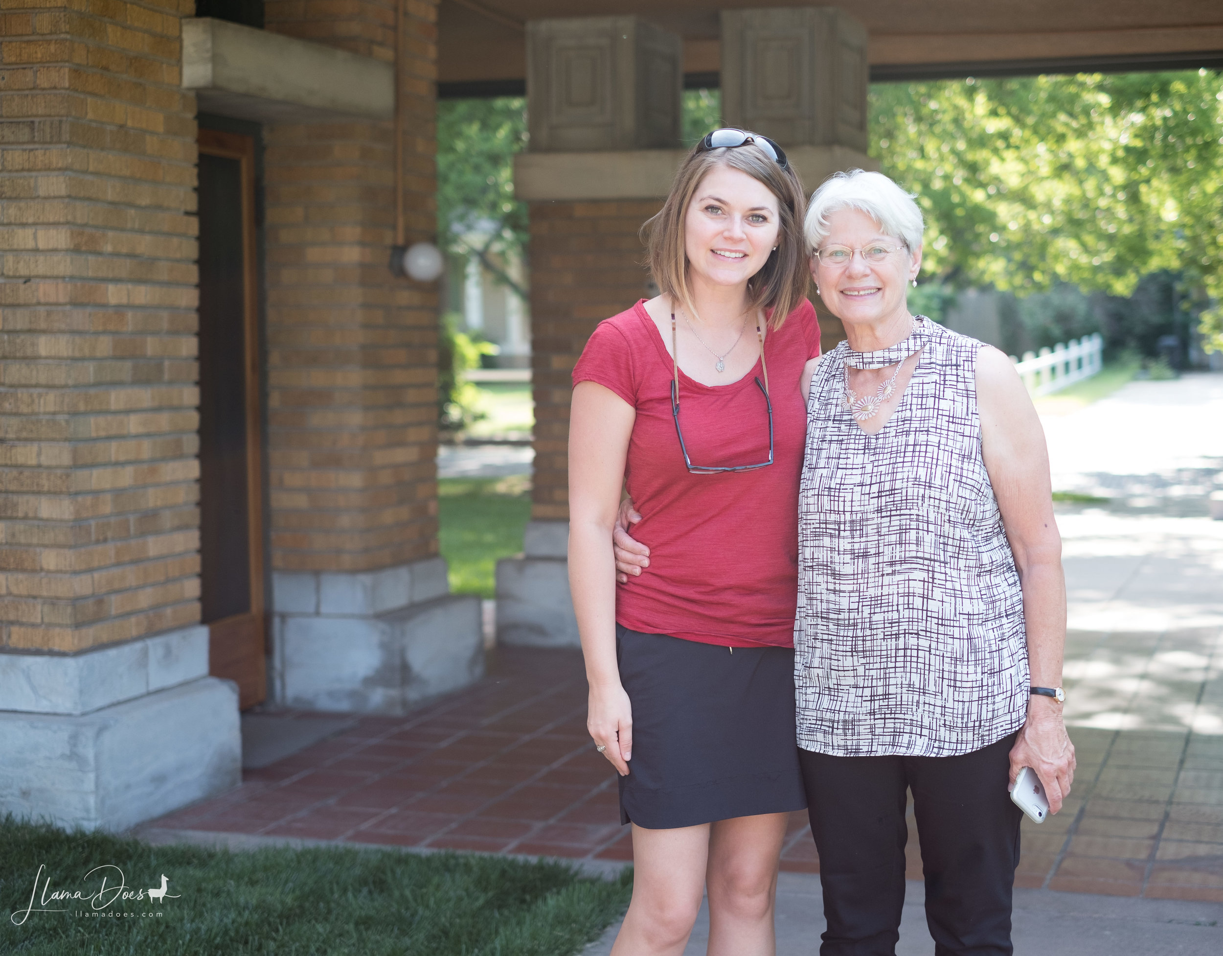 Mom and I outside of the Allen House taken by a really nice lady from western Kansas