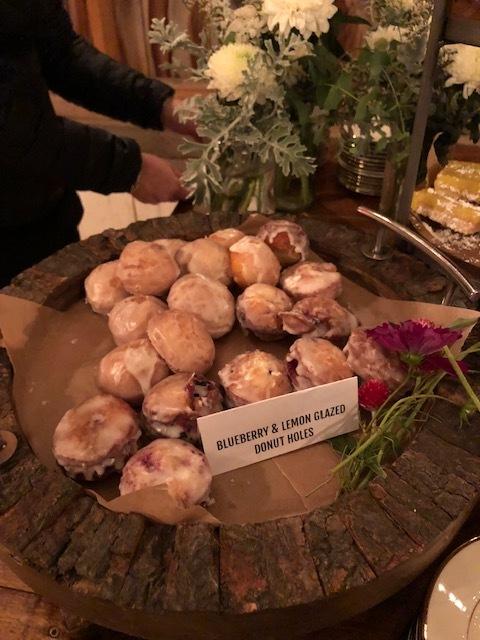 Blueberry & lemon glazed donuts at a wedding - Camden, Maine