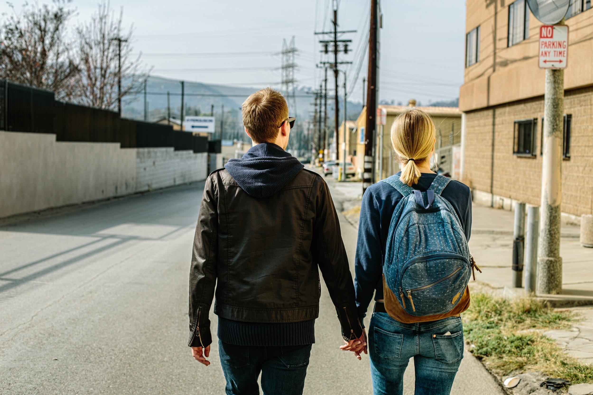 couple on a walk in West LA