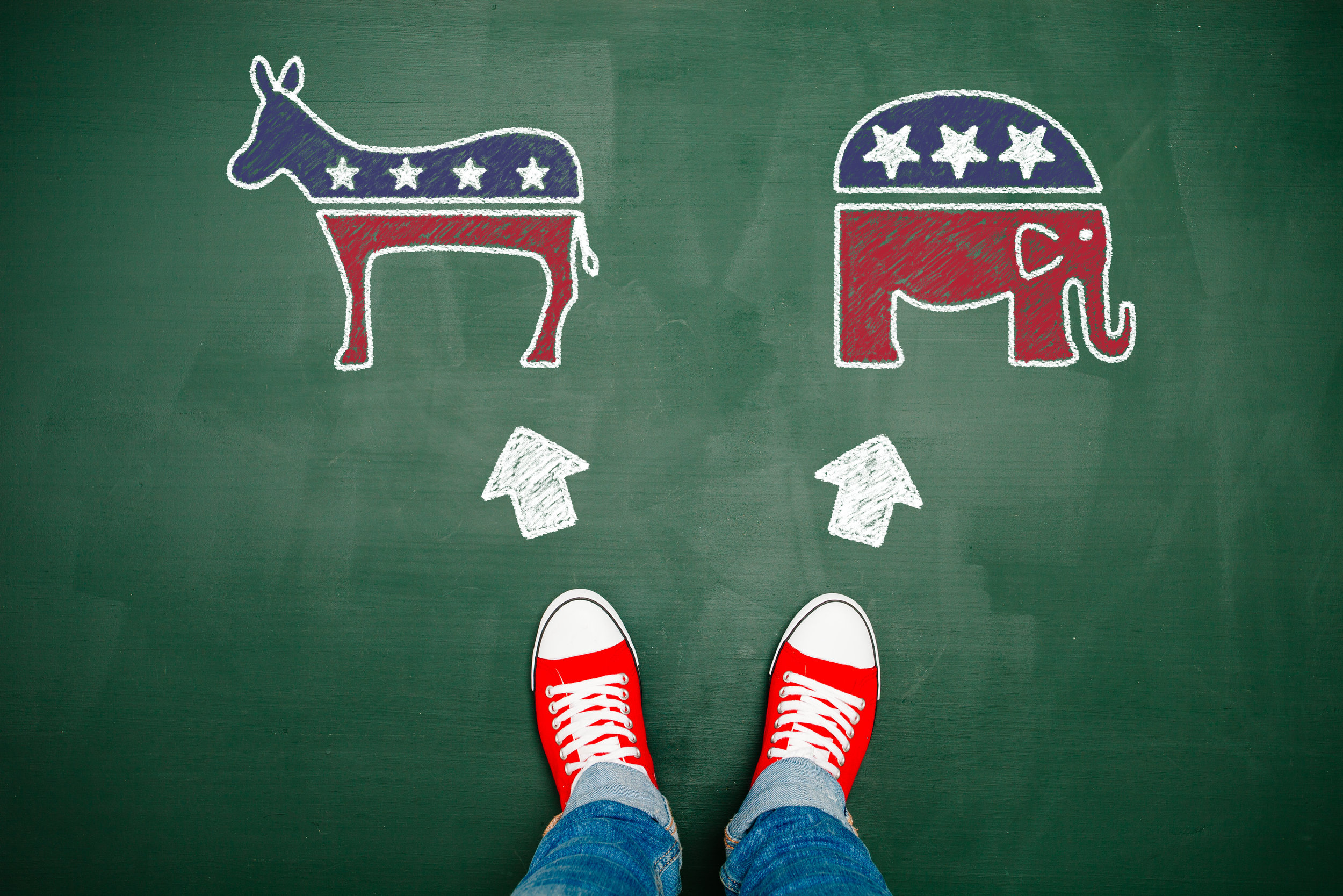 Are you a registered Democrat or Republican in Los Angeles?