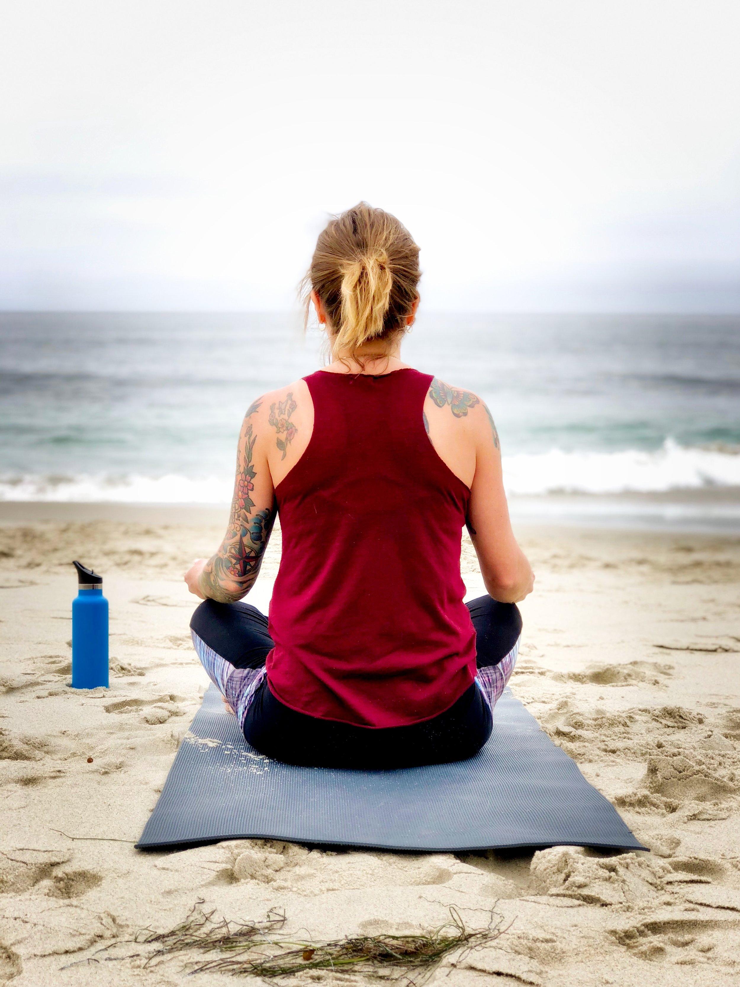 yoga on Venice Beach