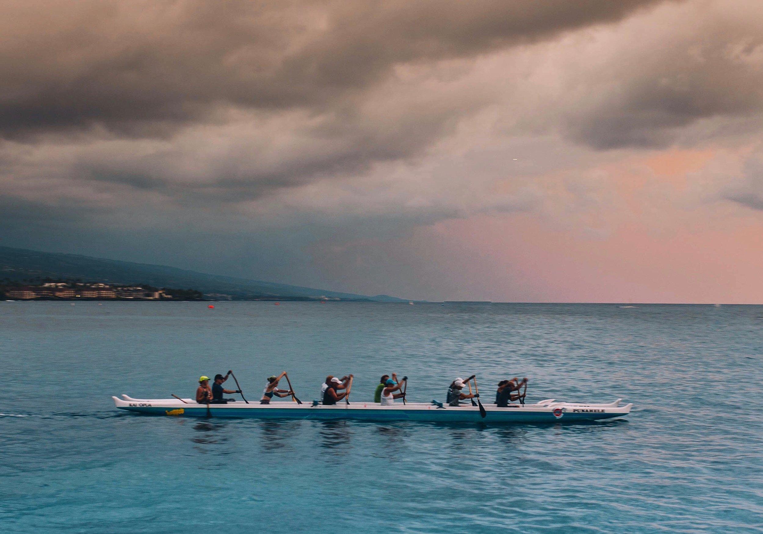 rowing in Marina Del Rey