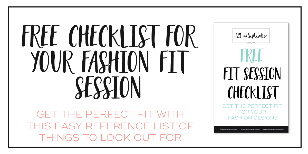 Ultimate guide to fit sessions for your fashion business, with free checklist