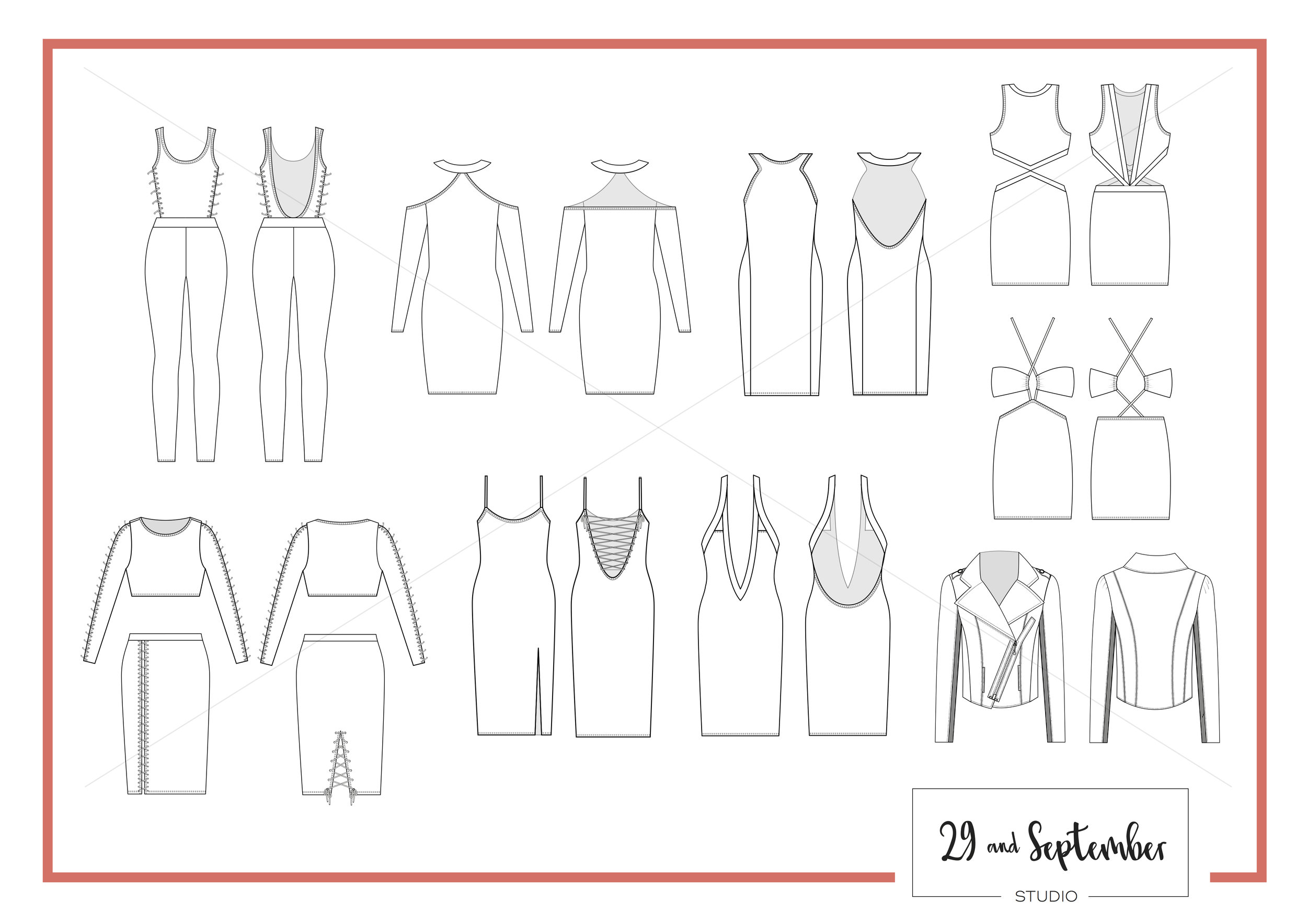 What is a technical drawing CAD for fashion design?