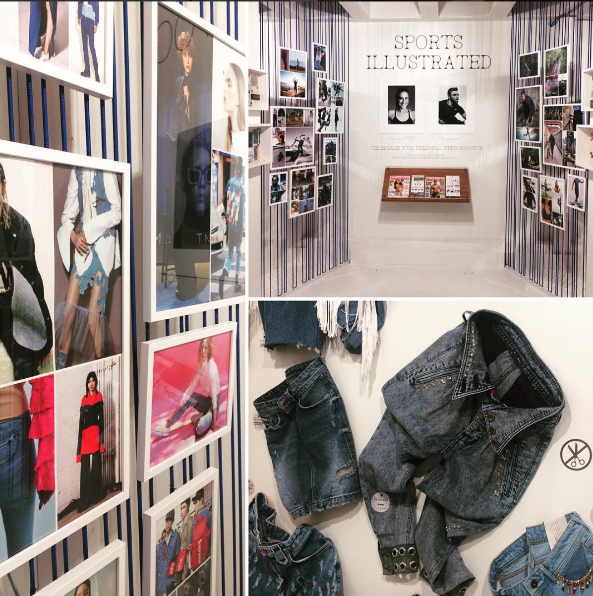 The 'Blue Zone' (for denim) trend area. Photo courtesy of Munich Fabric Start.