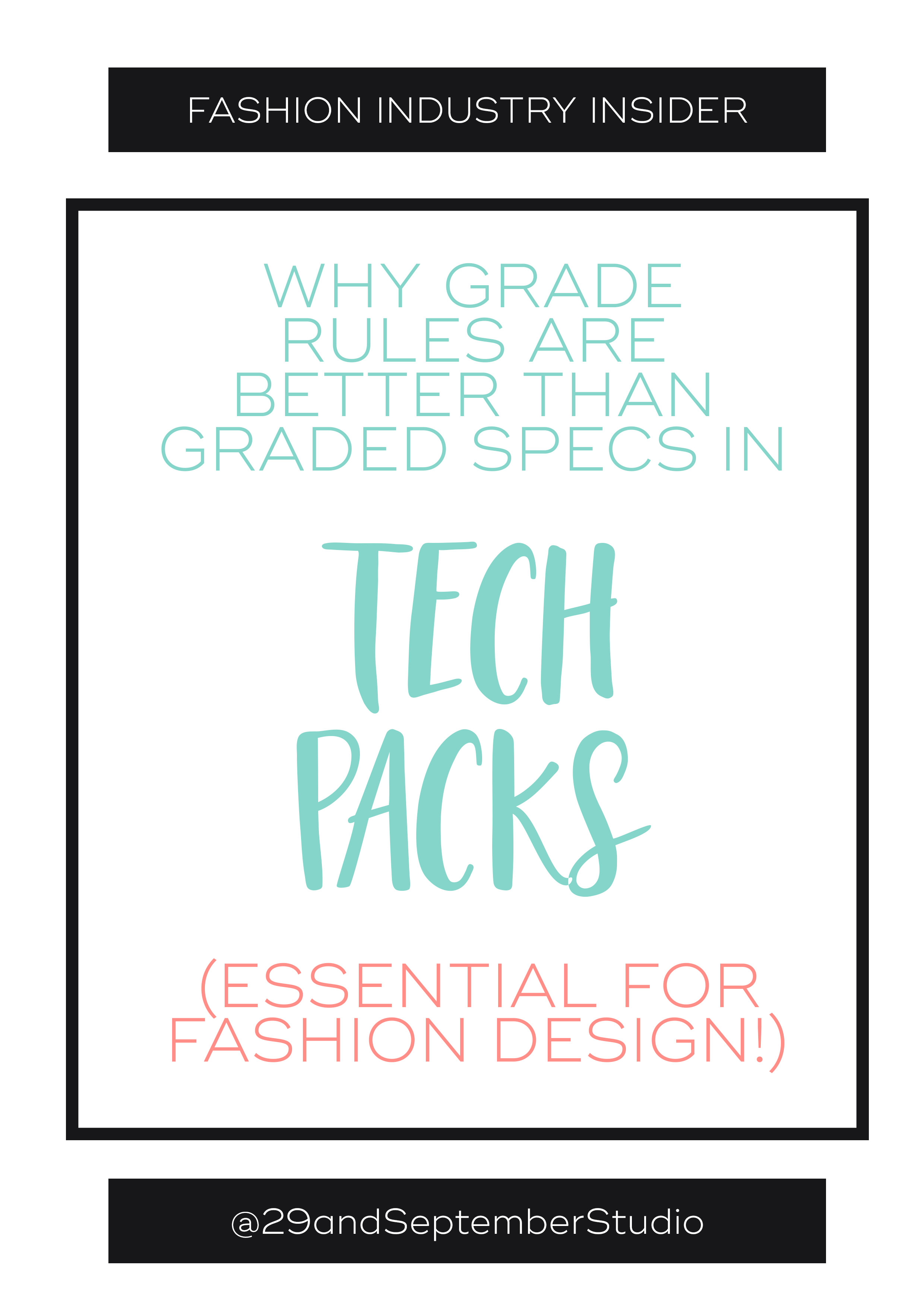 Graded tech packs; what they are + how to use them for fashion design