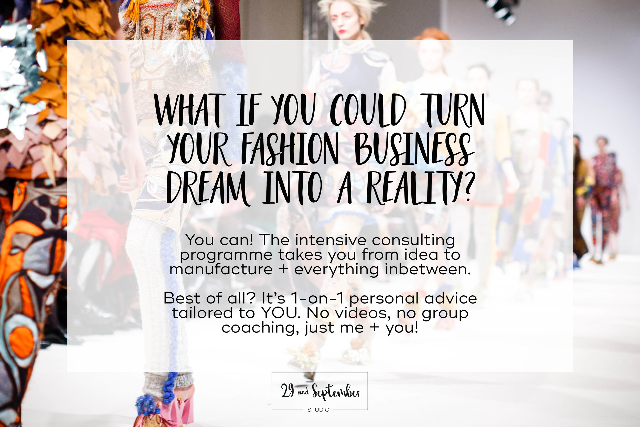 Consulting programme for fashion brand startup business, by 29andSeptember Studio