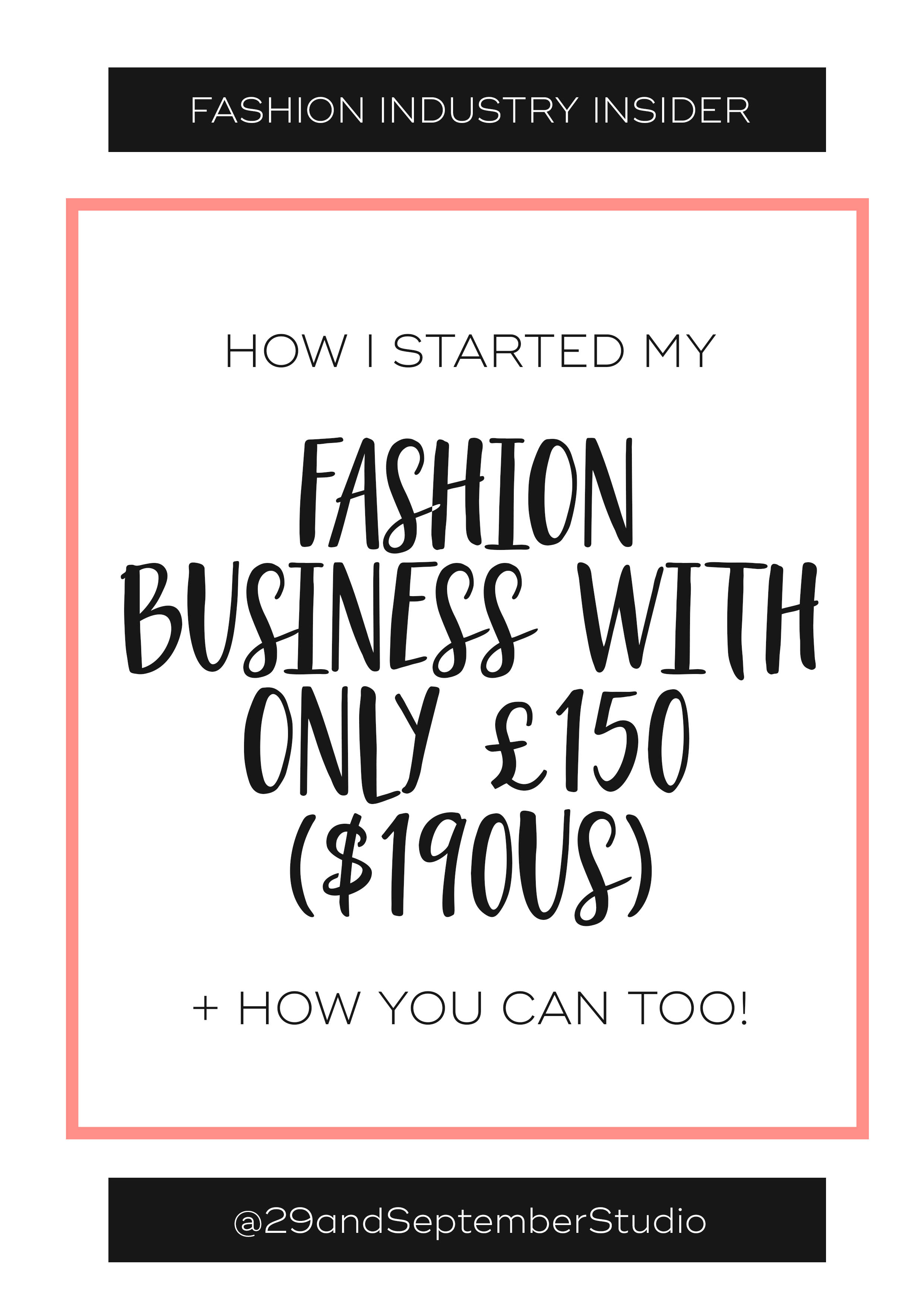How to start a fashion company on a budget - I started a fashion brand with almost no money. Learn the cheapest way to start your fashion business