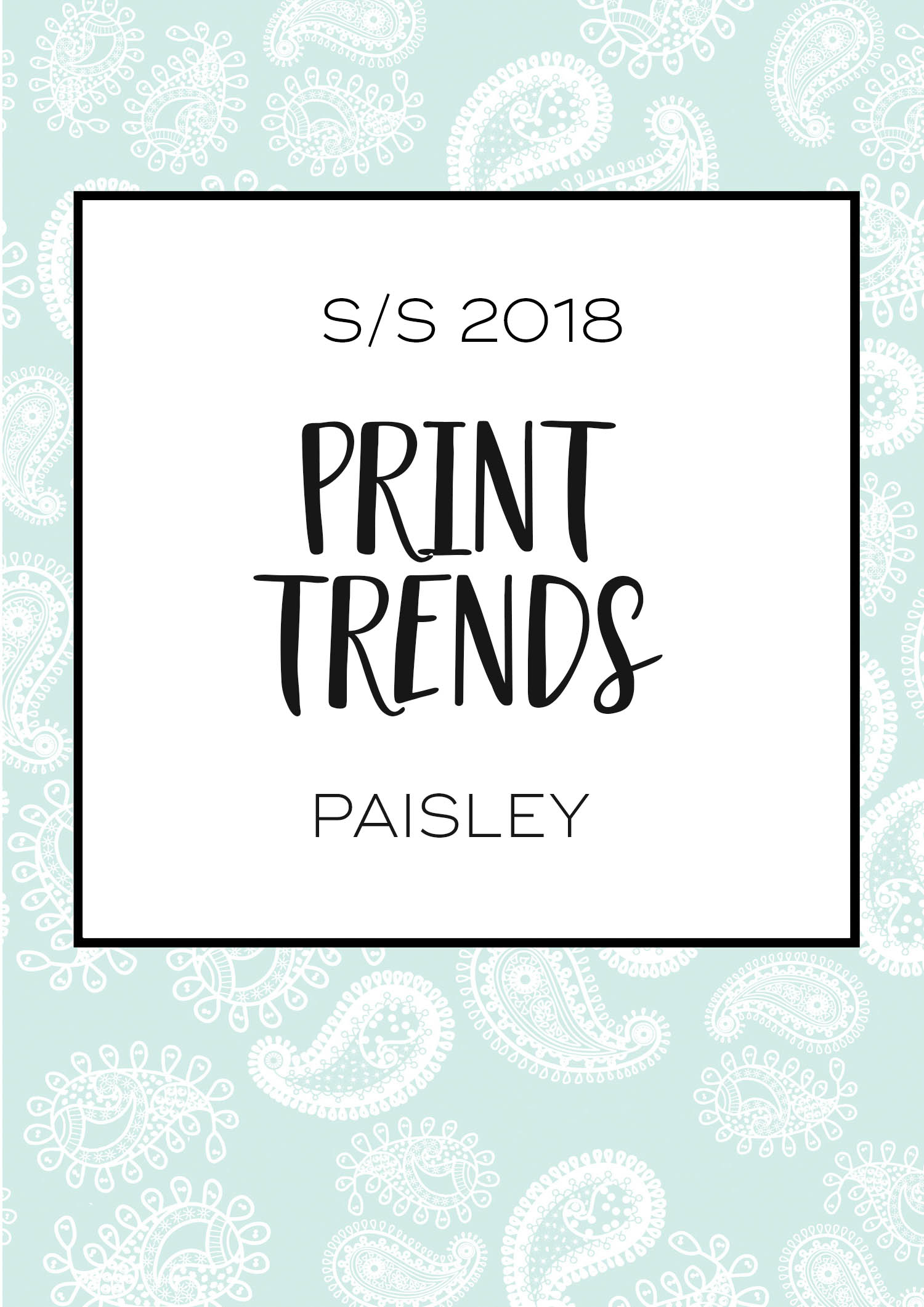 Print design trends; Paisley   How I created my Paisley print by 29andSeptember Studio