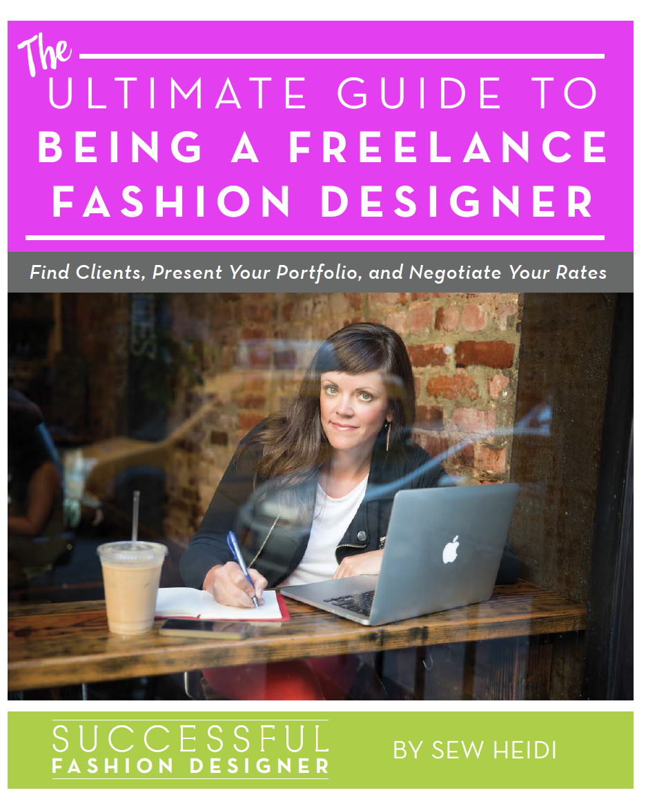 Sew Heidi free guide to becoming a fashion freelancer