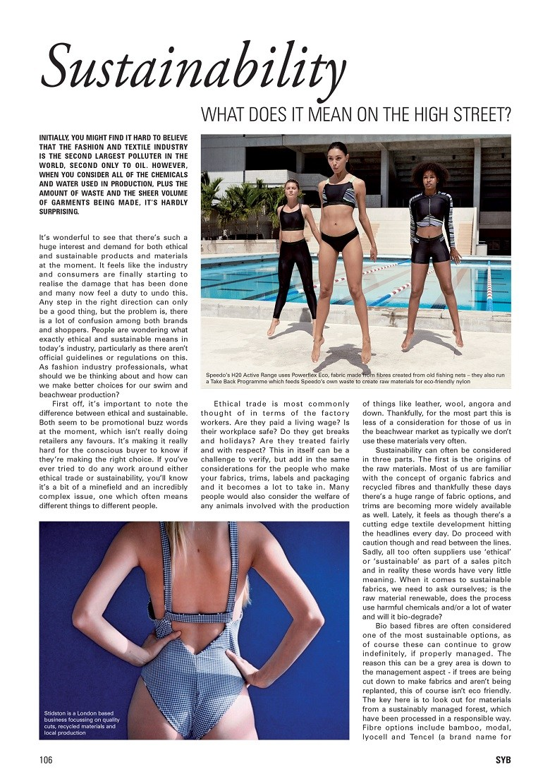 29andSeptember Studio feature in The Swimwear Yearbook 2019