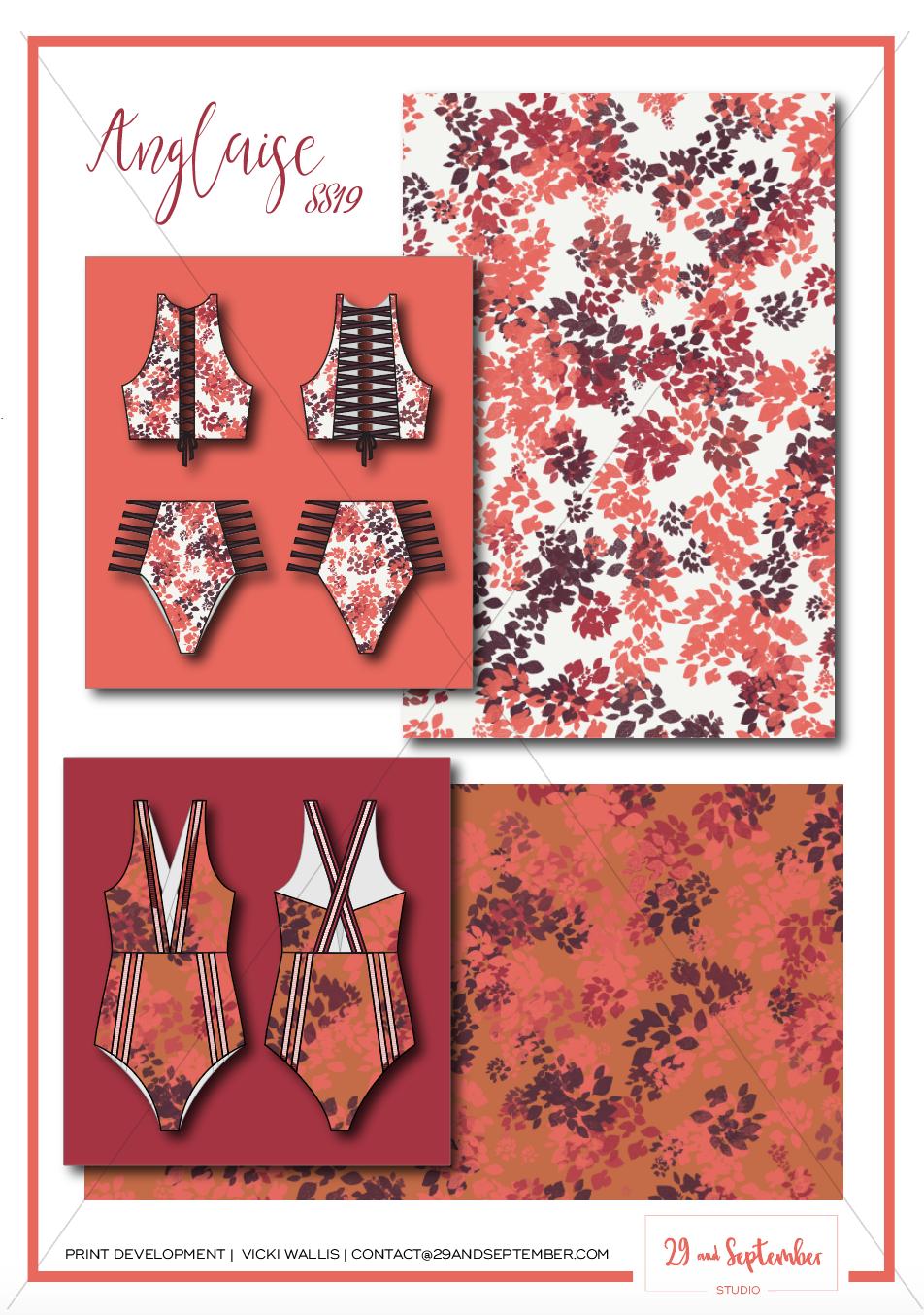 Swimwear inspiration | technical drawings for swimwear | textile print design
