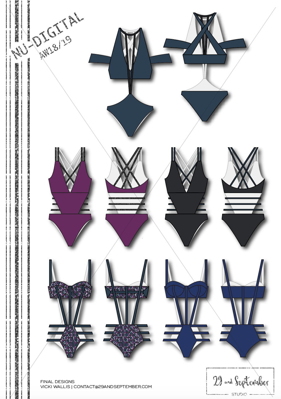 How to start a swimwear brand | swimwear technical drawings designs | Swim inspiration | technical drawings for fitness apparel by 29andSeptember Studio