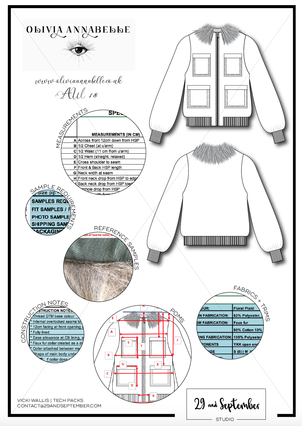 29andSeptember Studio Fashion Technical Drawings and Tech Pack Portfolio