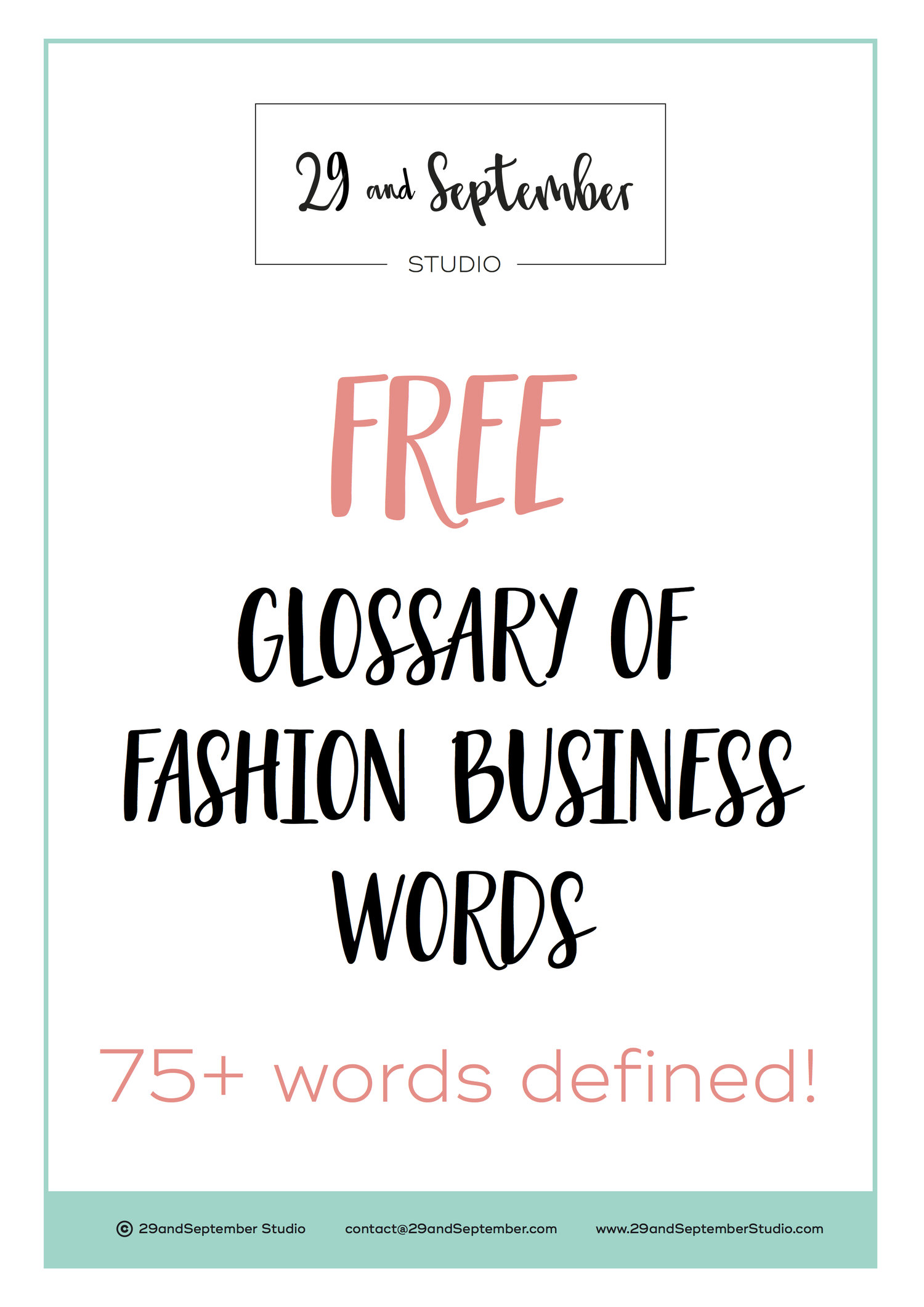 Free glossary of fashion industry terms