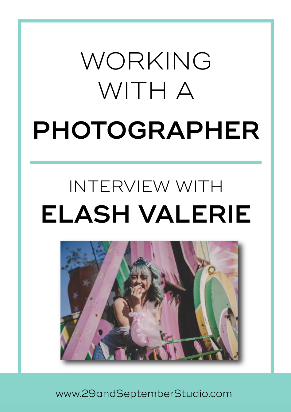 Working with a fashion photographer